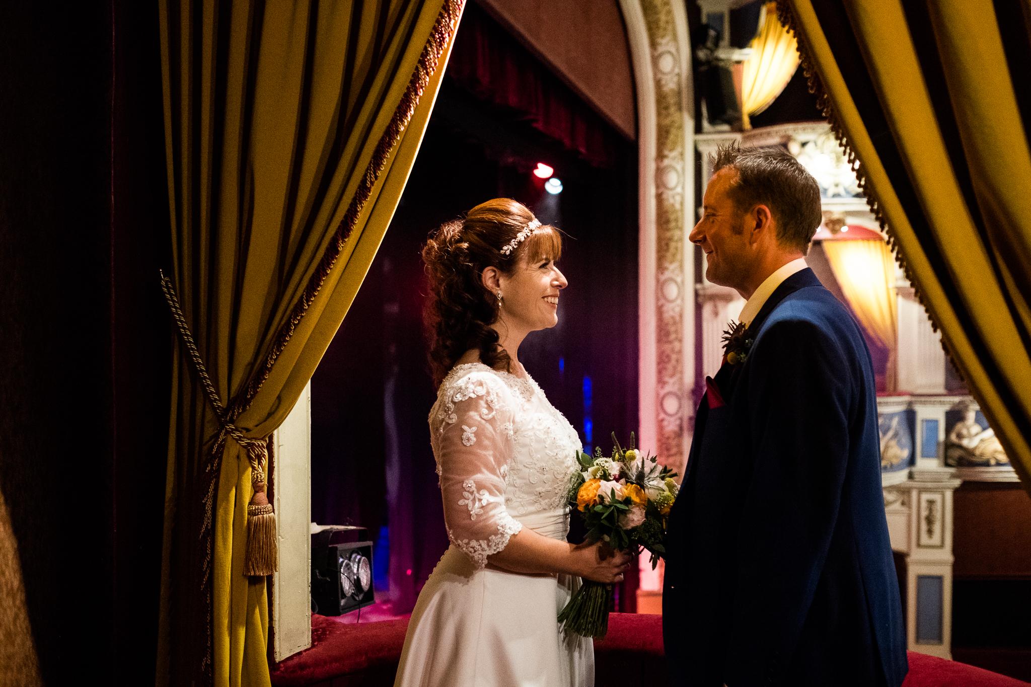 Cheshire Wedding Photography at Crewe Lyceum Theatre Stage Wedding Art Deco 20s - Jenny Harper-32.jpg