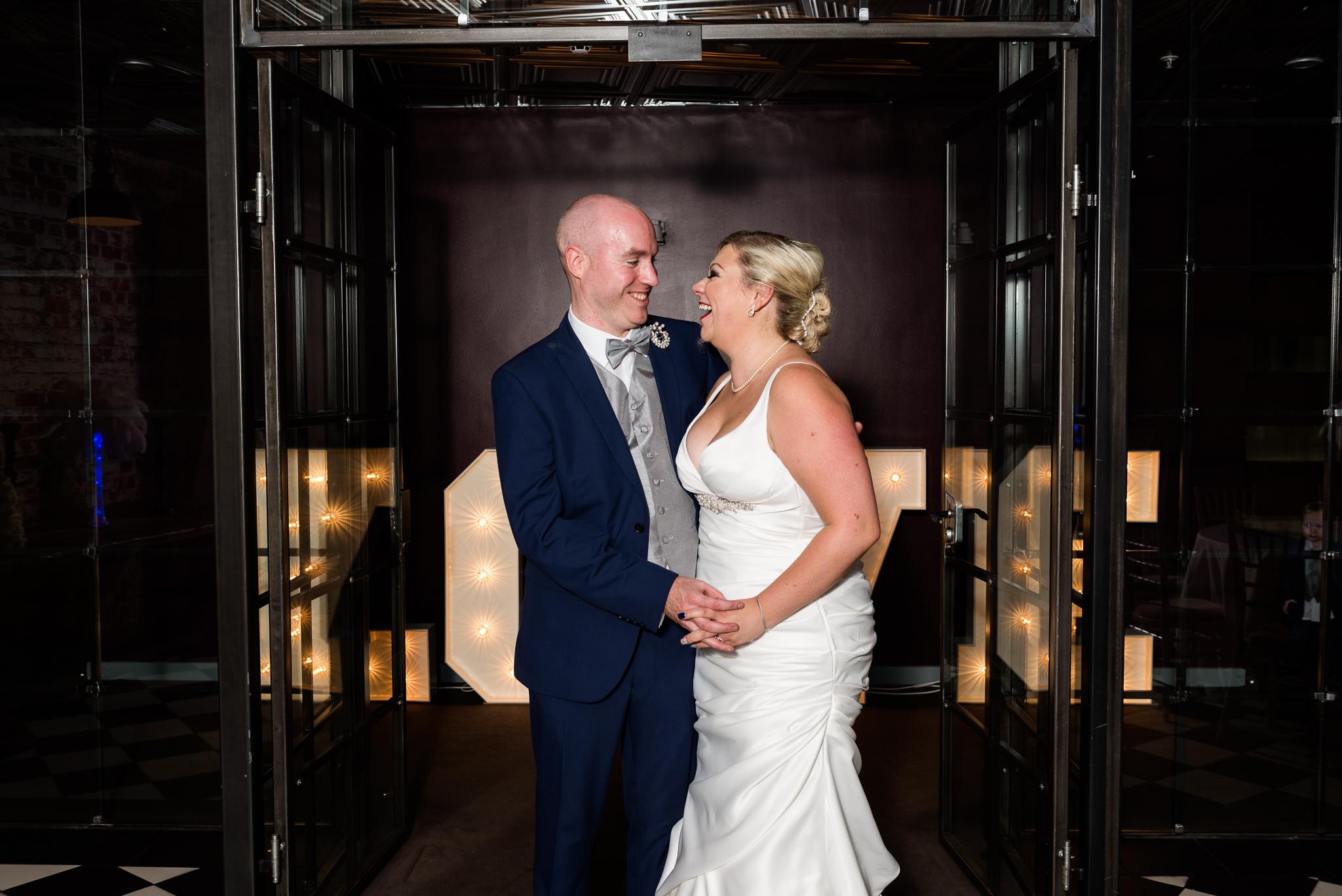 Manchester Wedding Photography On the 7th Media City UK, Salford 20s Art Deco Feathers Urban - Jenny Harper-27.jpg