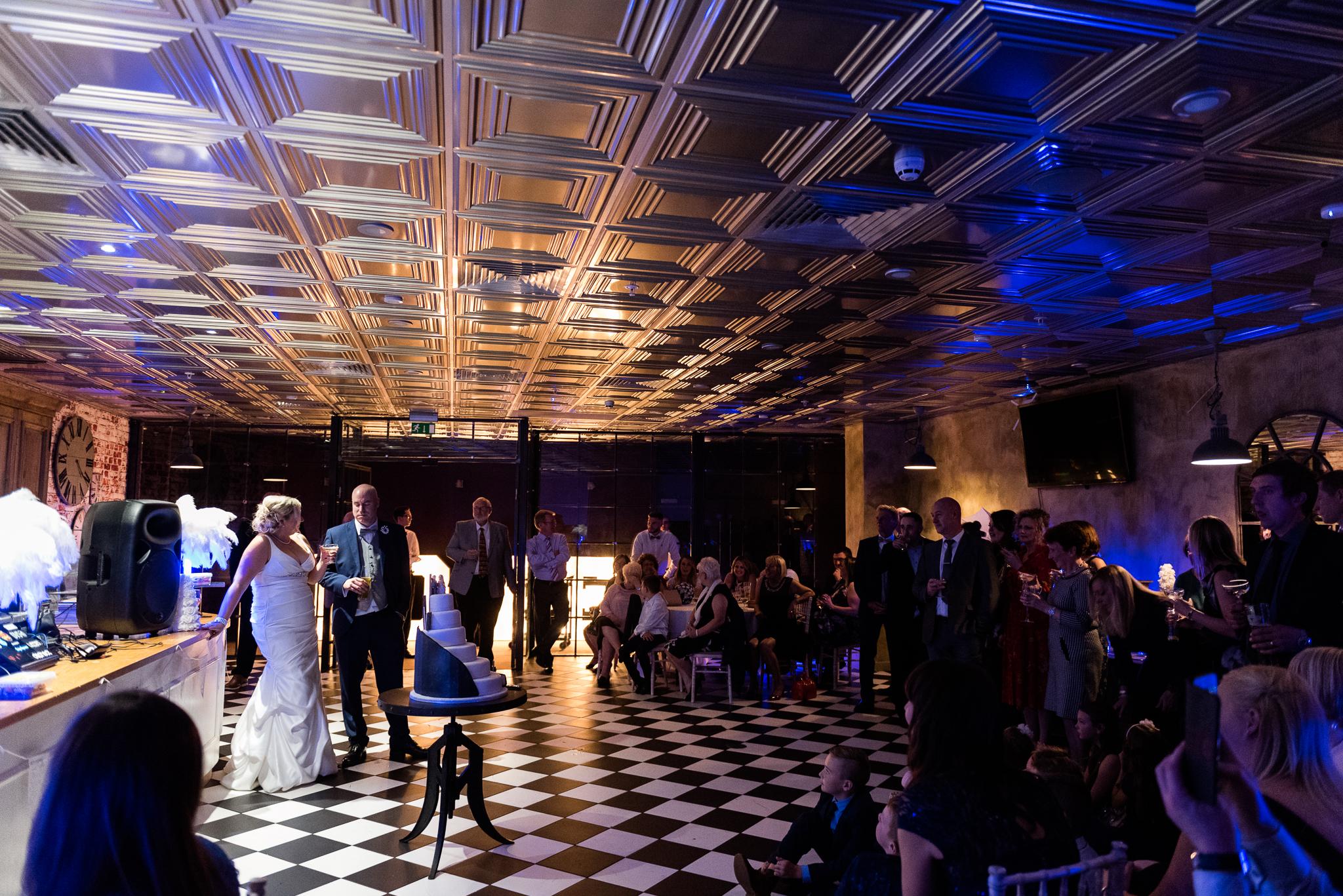 Manchester Wedding Photography On the 7th Media City UK, Salford 20s Art Deco Feathers Urban - Jenny Harper-31.jpg