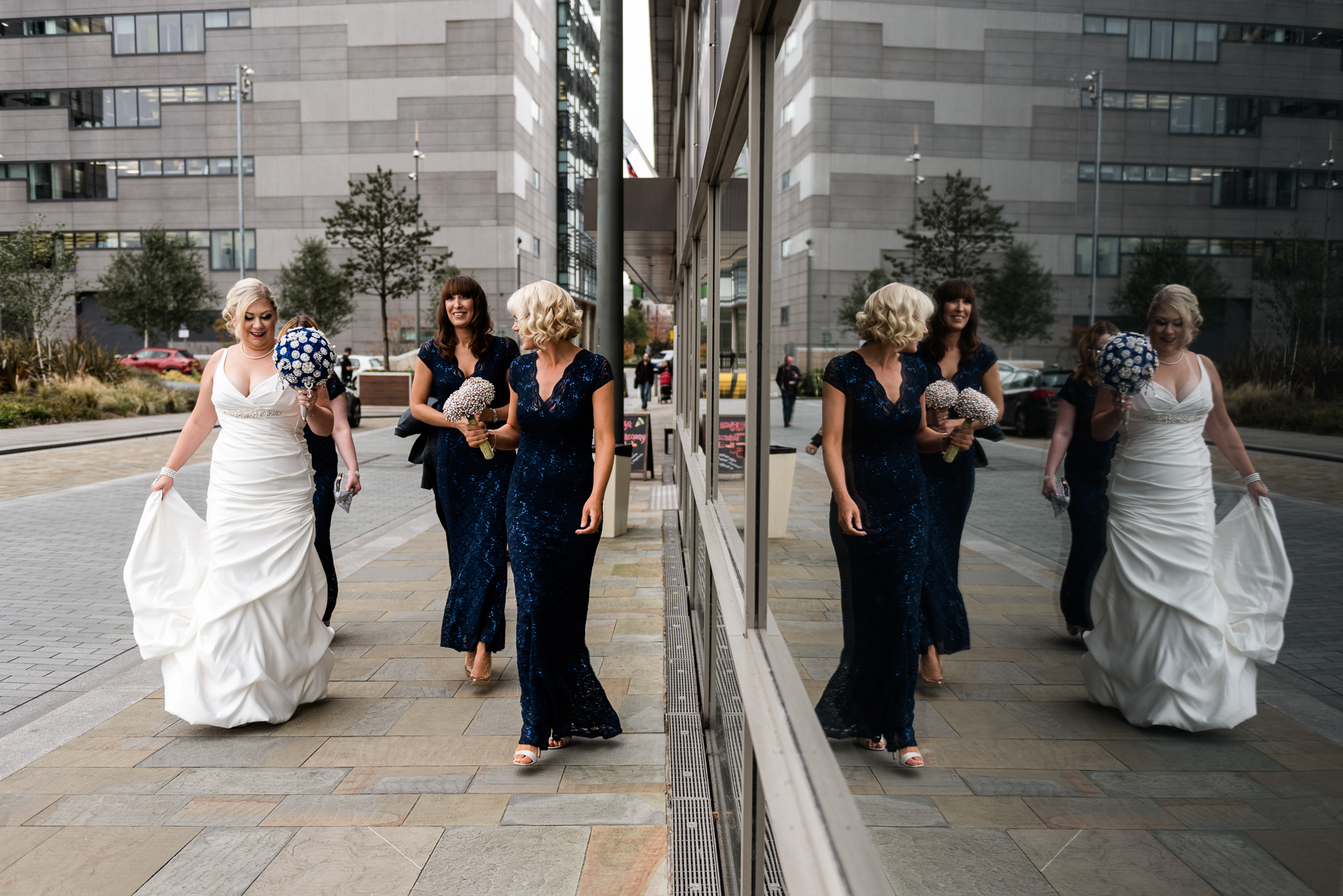Manchester Wedding Photography On the 7th Media City UK, Salford 20s Art Deco Feathers Urban - Jenny Harper-14.jpg
