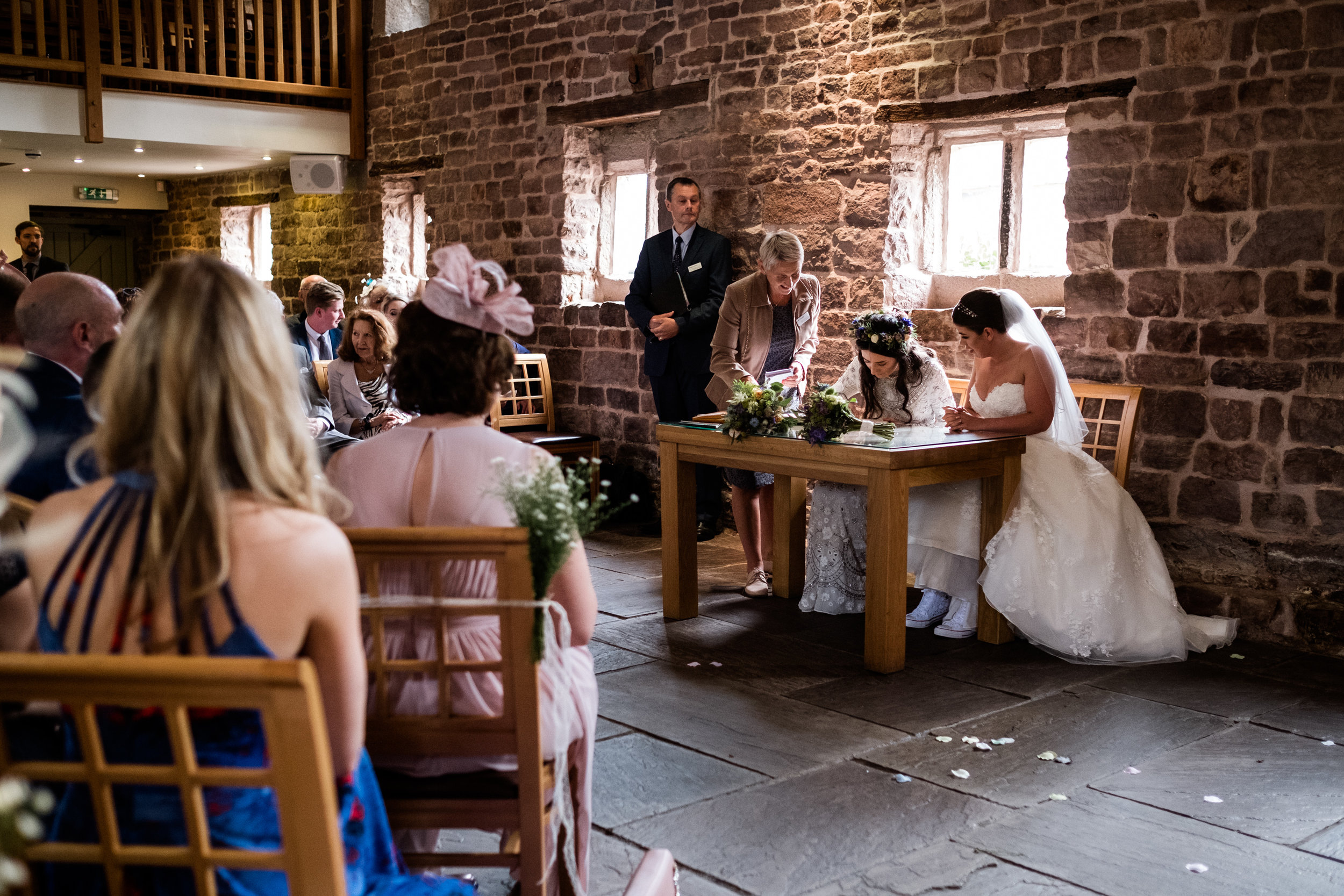 Summer Staffordshire Same Sex Wedding at The Ashes Barns, Endon Brides Mrs and Mrs - Jenny Harper-34.jpg