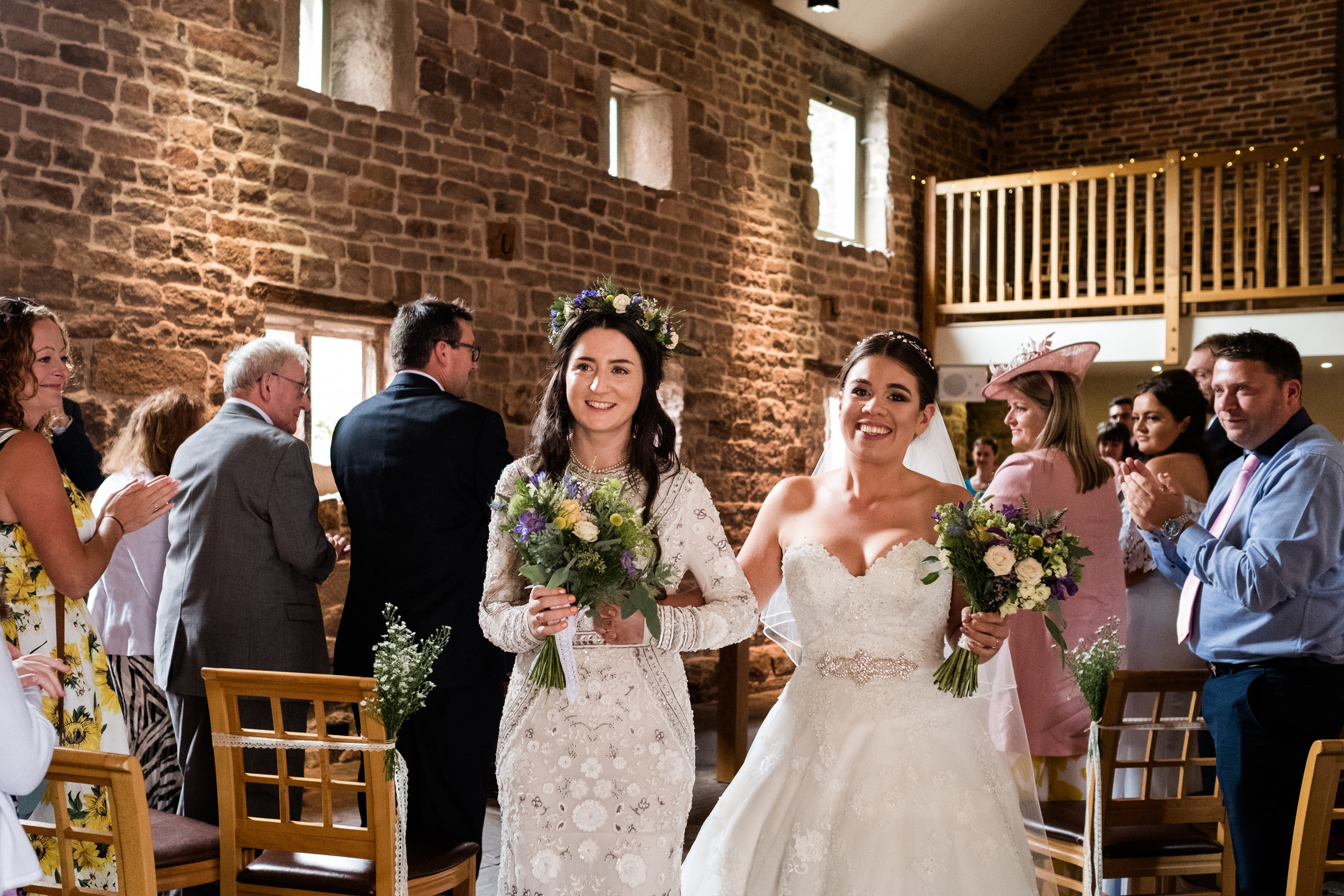 Summer Staffordshire Same Sex Wedding at The Ashes Barns, Endon Brides Mrs and Mrs - Jenny Harper-35.jpg