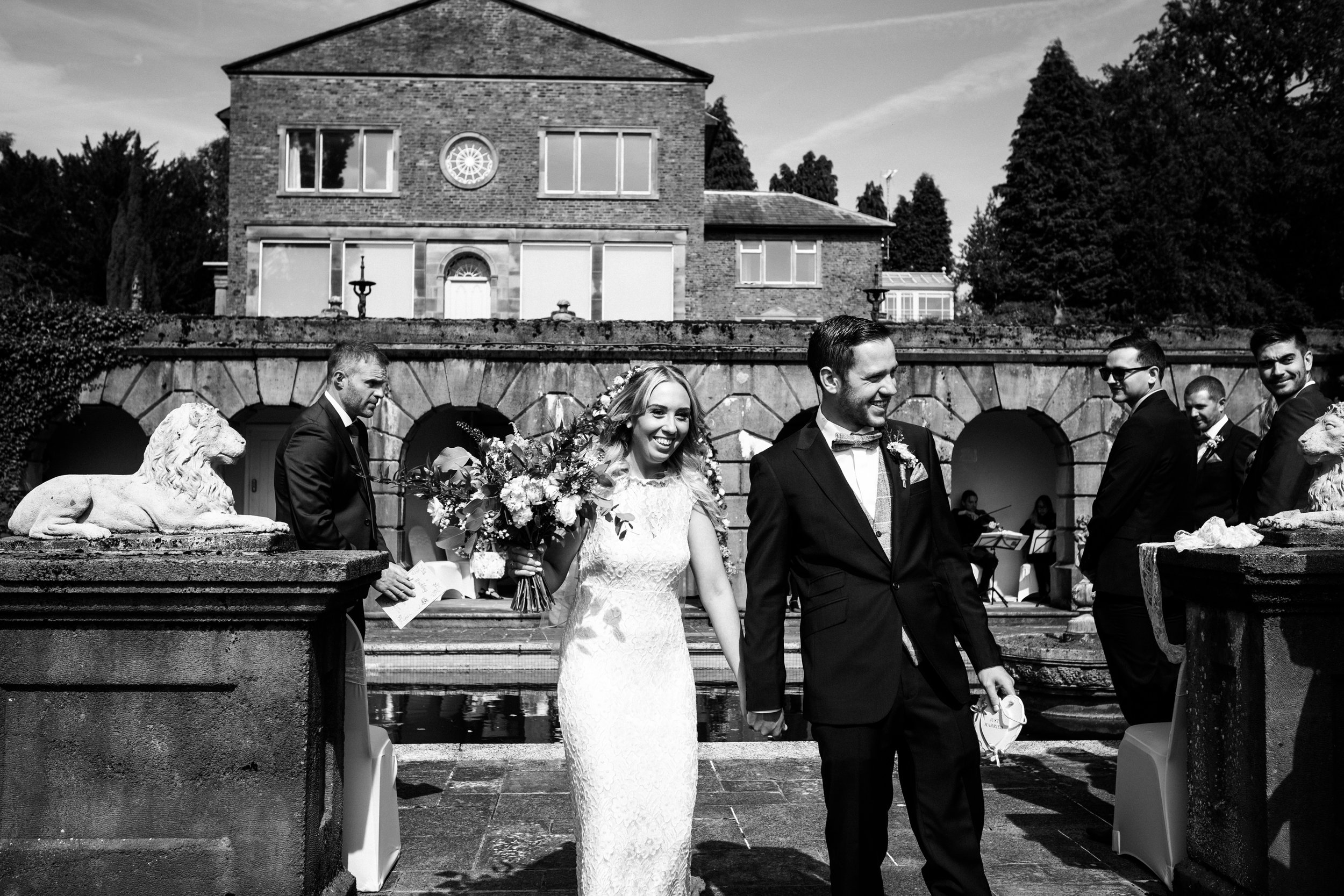 Summer Documentary Wedding Photography at Consall Hall Gardens Outdoor Ceremony Cockapoo dog - Jenny Harper-26.jpg