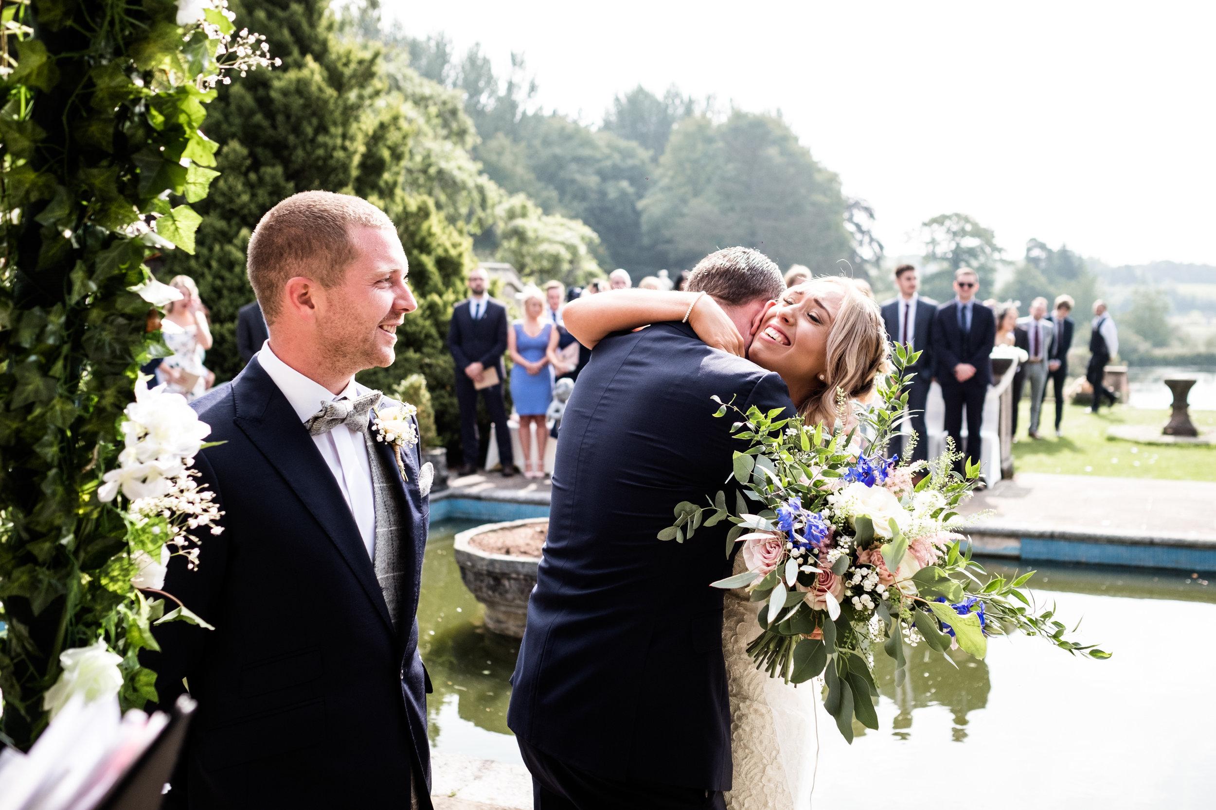 Summer Documentary Wedding Photography at Consall Hall Gardens Outdoor Ceremony Cockapoo dog - Jenny Harper-20.jpg