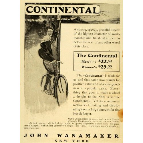Another Wanamaker ad from the 1890s, this one focused on price, quality, and selection.