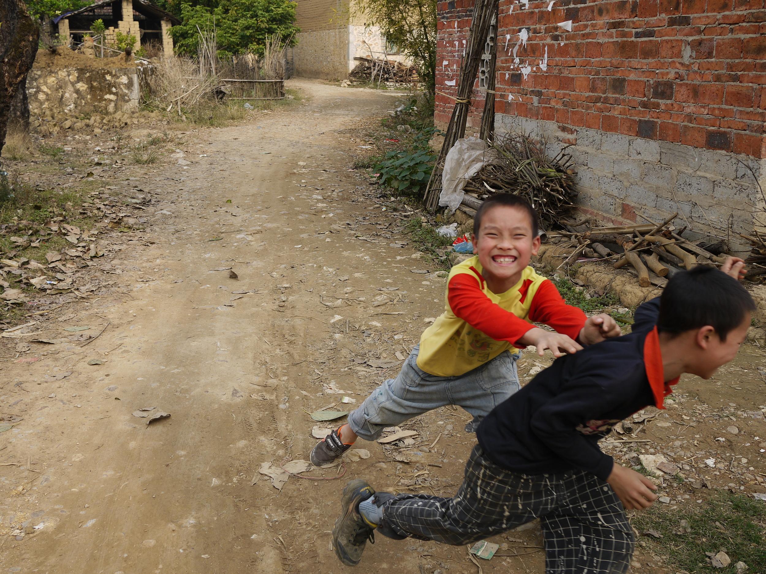 Local village kids... acting like kids
