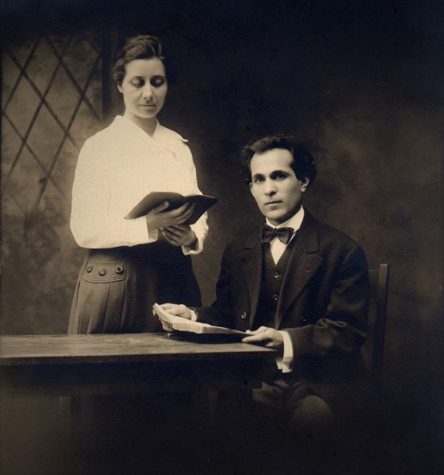 Pastor B. M. David and Sister Ruth David  About October 1914.