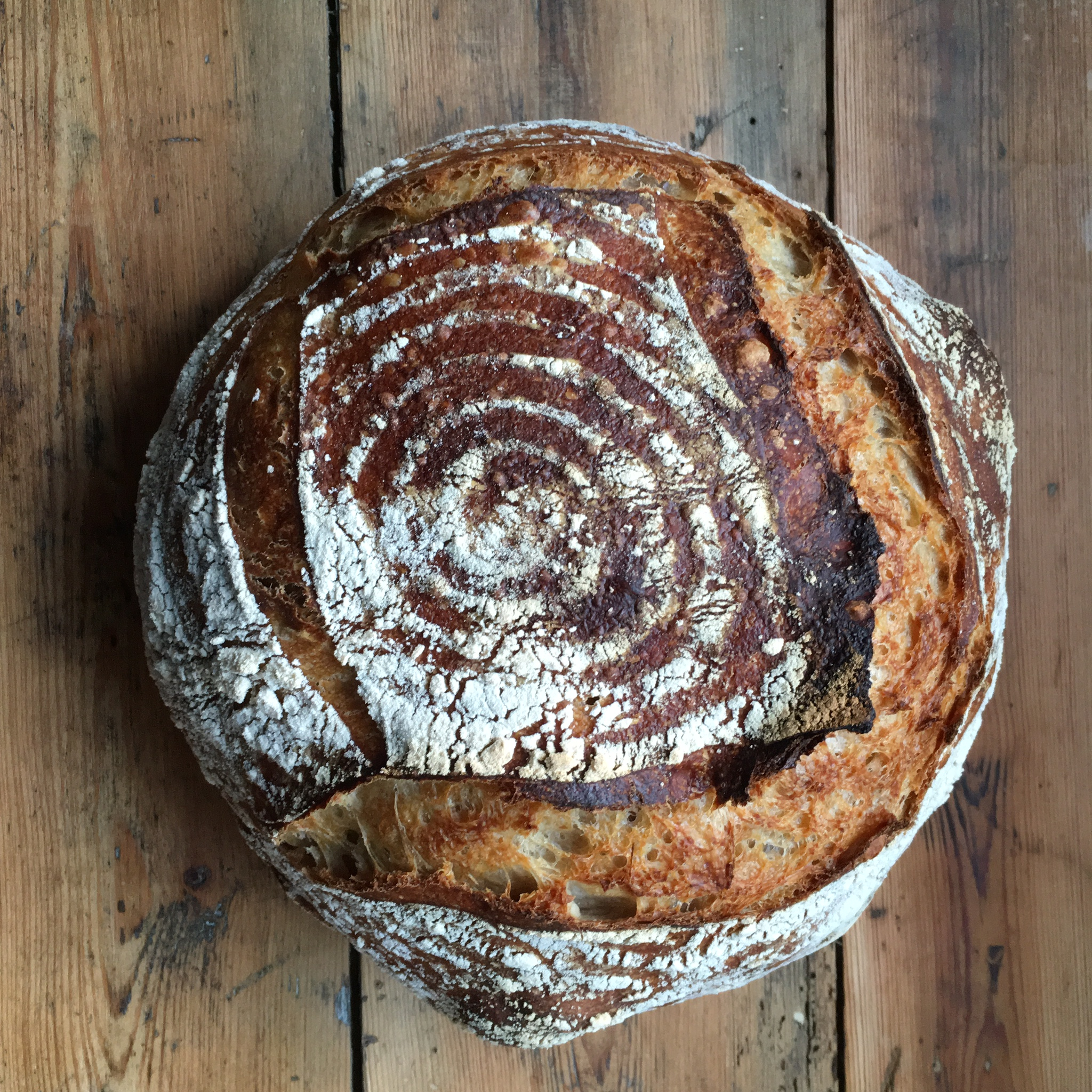 We bake our own sourdough and levain breads daily. Each loaf takes 24-36 hours to mix, ferment, shape, prove and bake. There are only four ingredients in our bread. Flour, water, salt & yeast. We think it makes the best toast imaginable.
