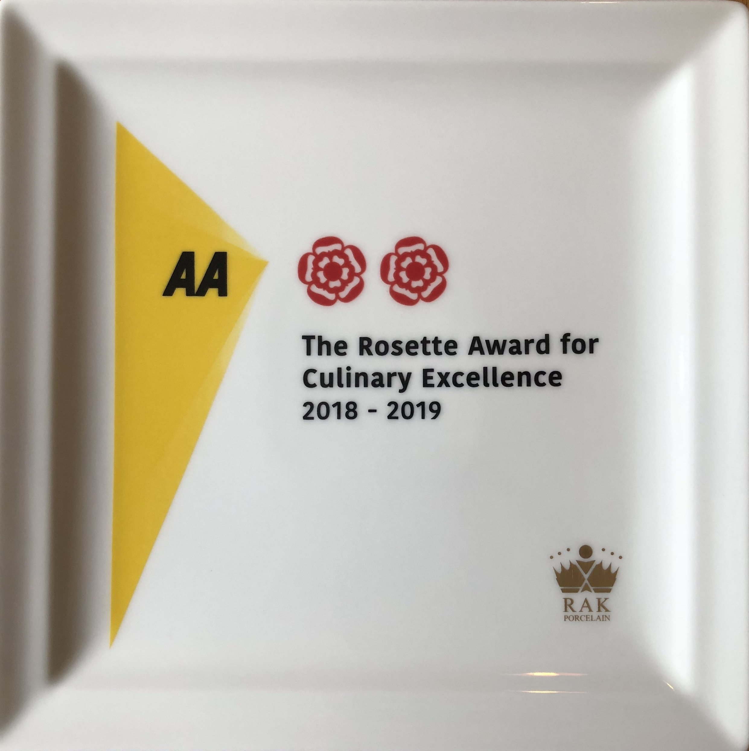 This is the third 2 AA rosette plate that Chef Harry Bullock has won and he is only 21 years old.