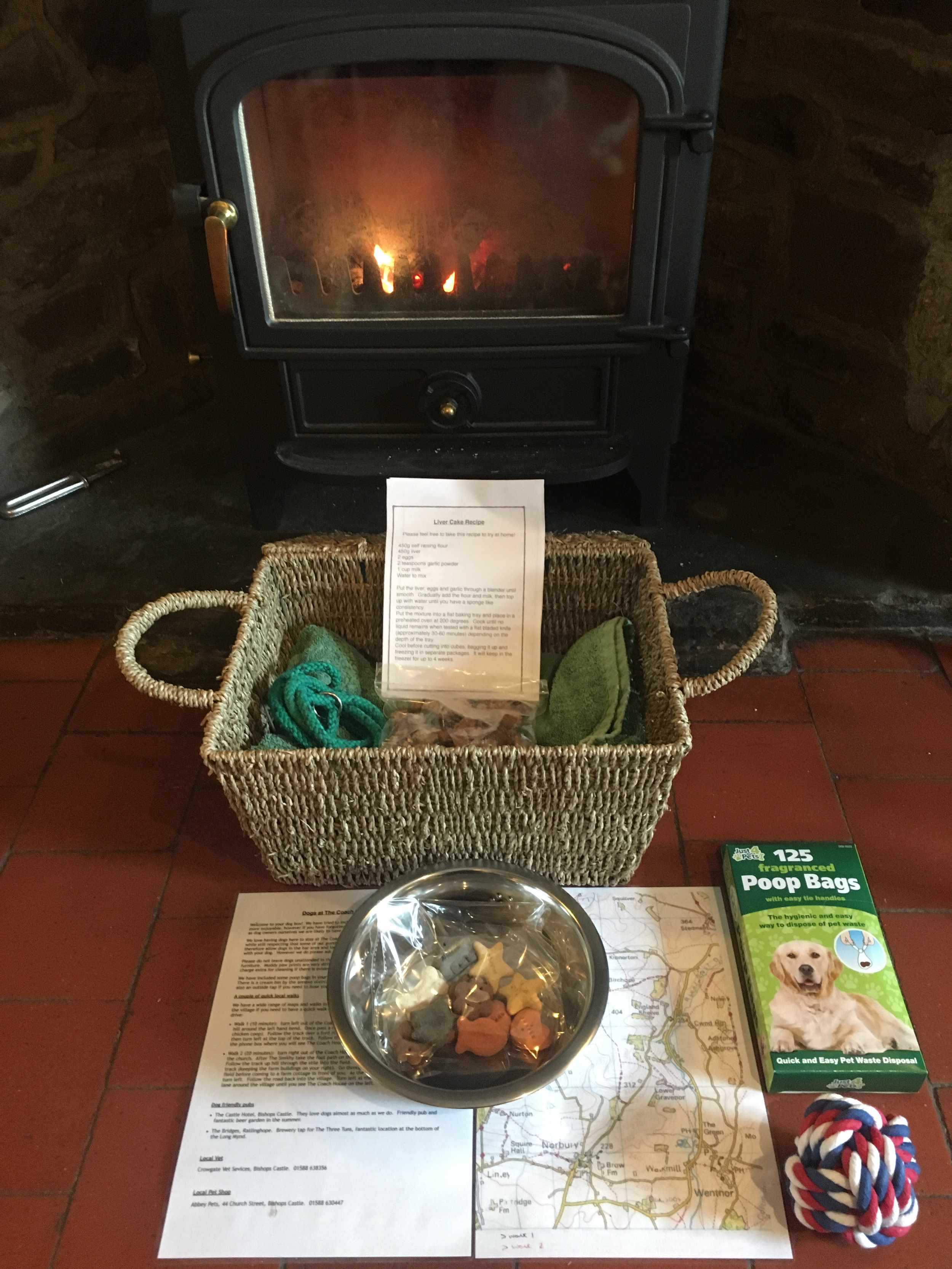 Your complimentary dog hamper