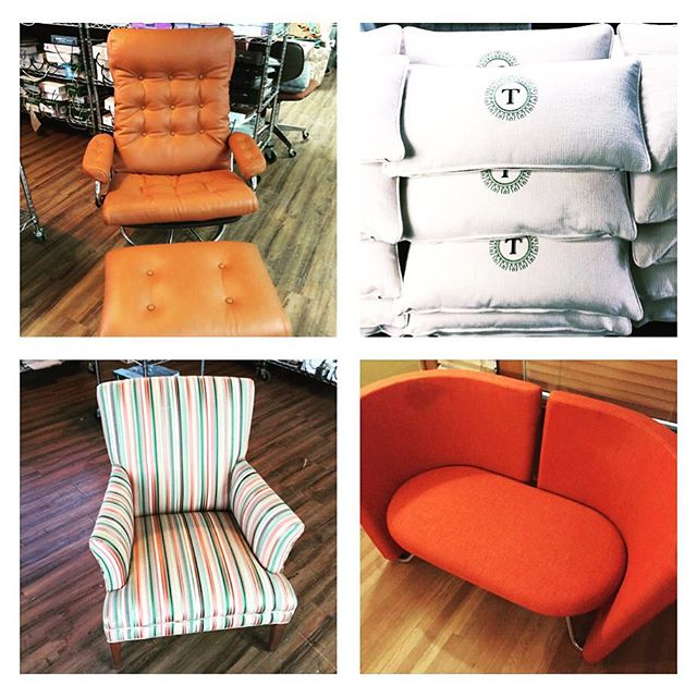 Just some recent pieces that have passed through the doors at Forte! #fortekc #upholstery #kcmo