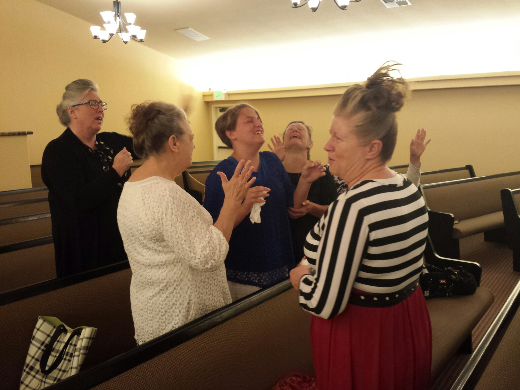 Christie Young seeking for the Holy Ghost