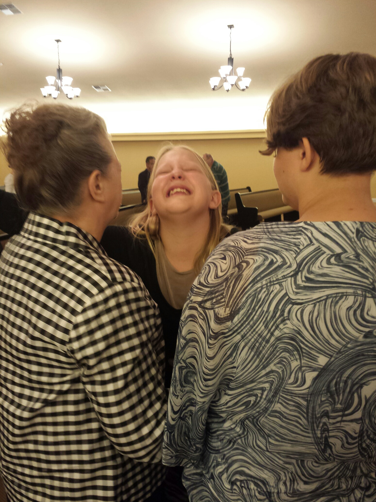 Amy Young seeking for the Holy Ghost