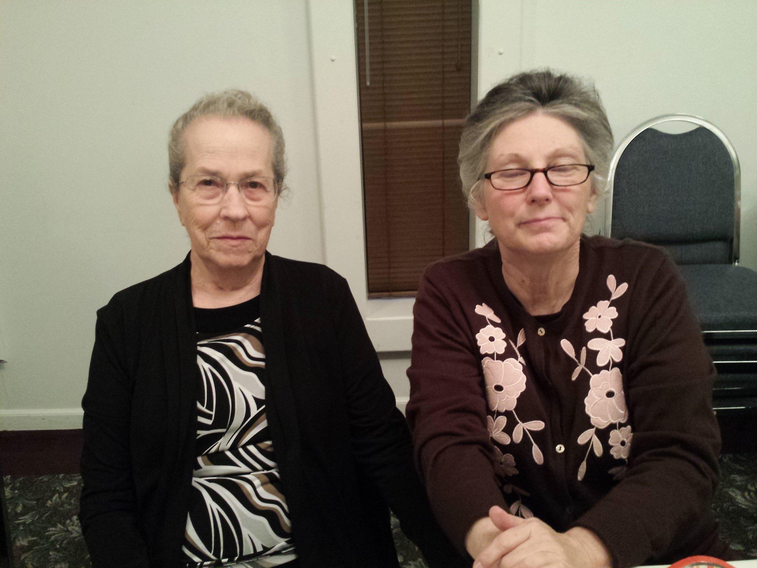 Sis. Edna and Sis. Cynthia