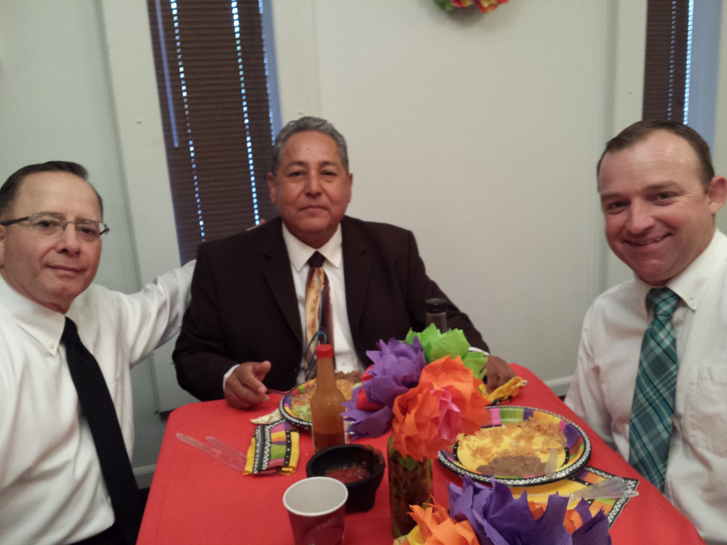 Bro. Garcia, Bro. Nevarez, and Bro. Middleton