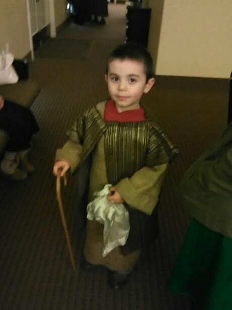 Jared Womack as a shepherd boy