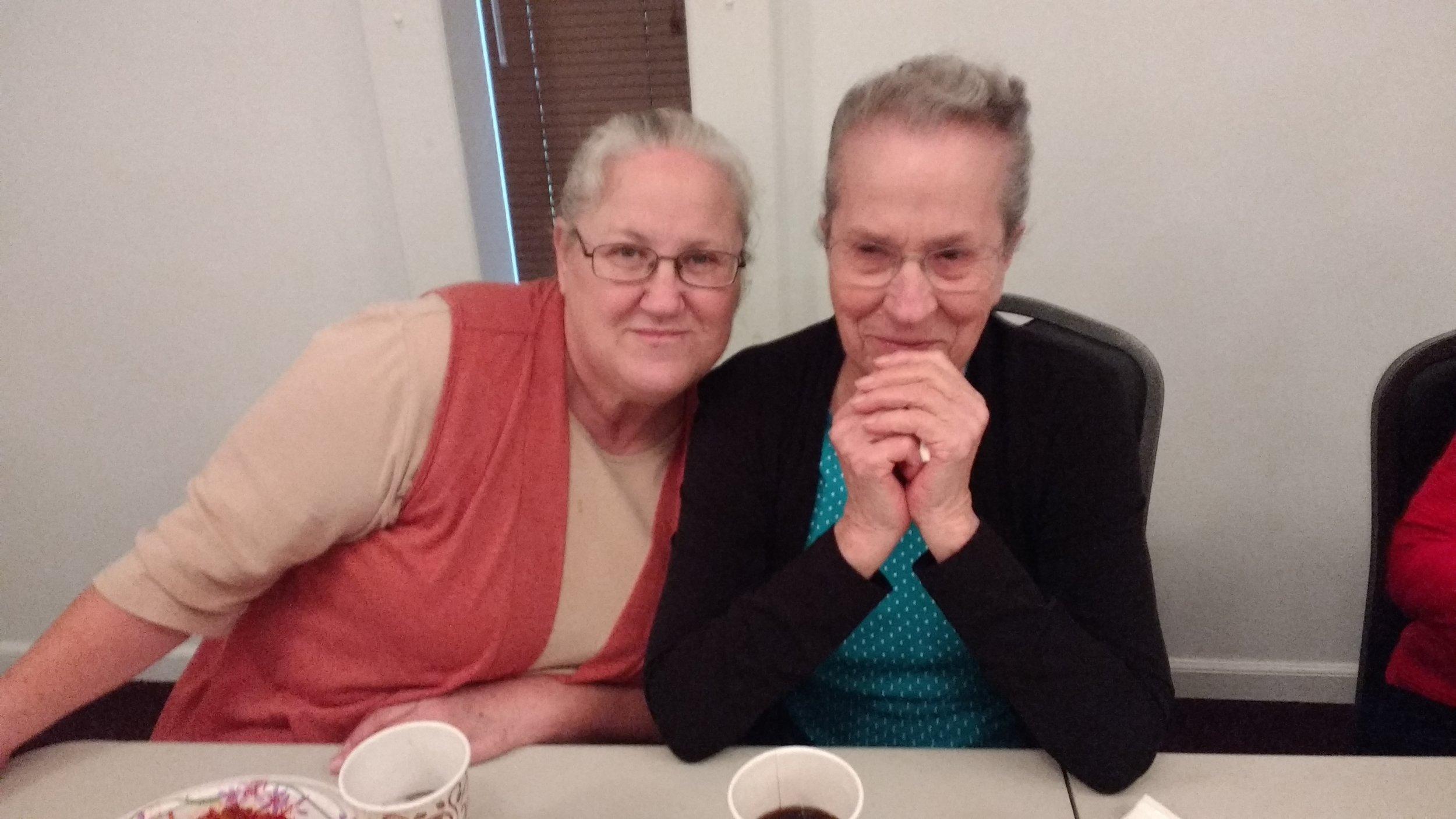 Sis. Barbara and Sis. Edna