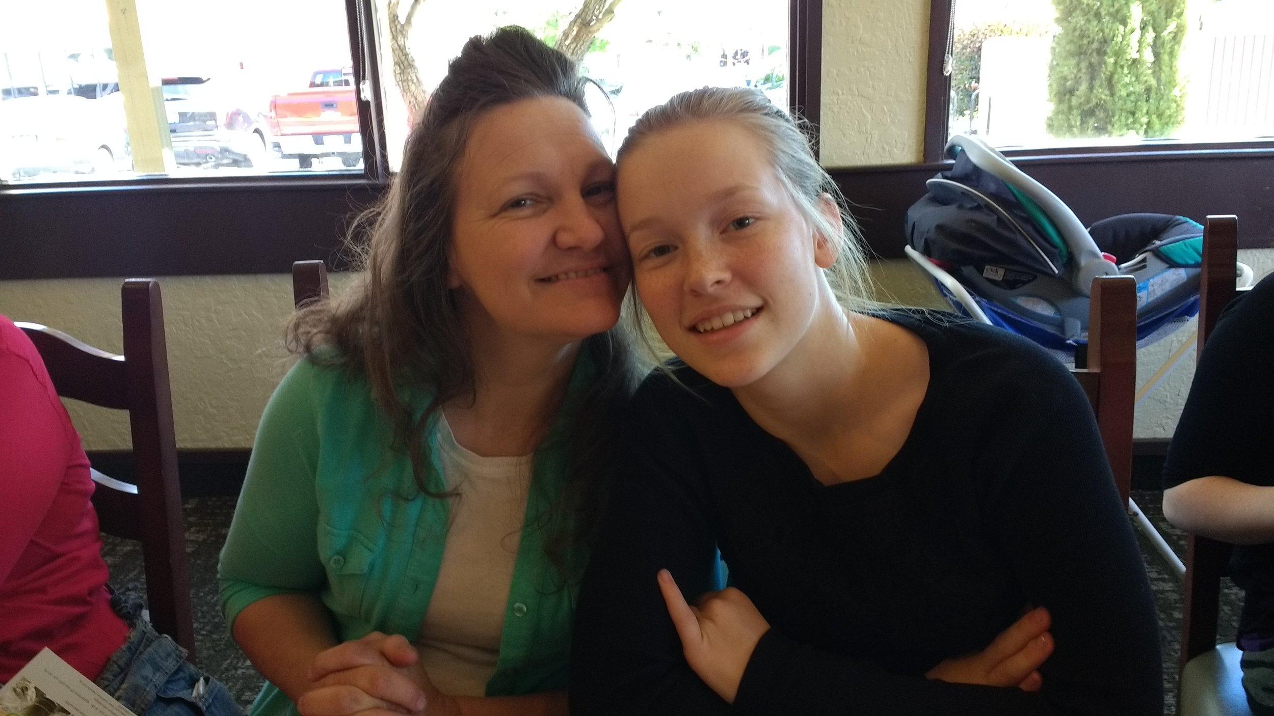 Sis. Jacquie and daughter Sis. Chloe