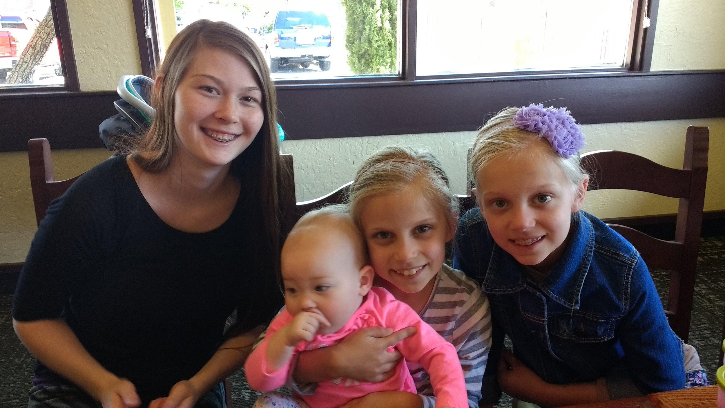 Sis. Megun, Eliyah, Mandy and Emily