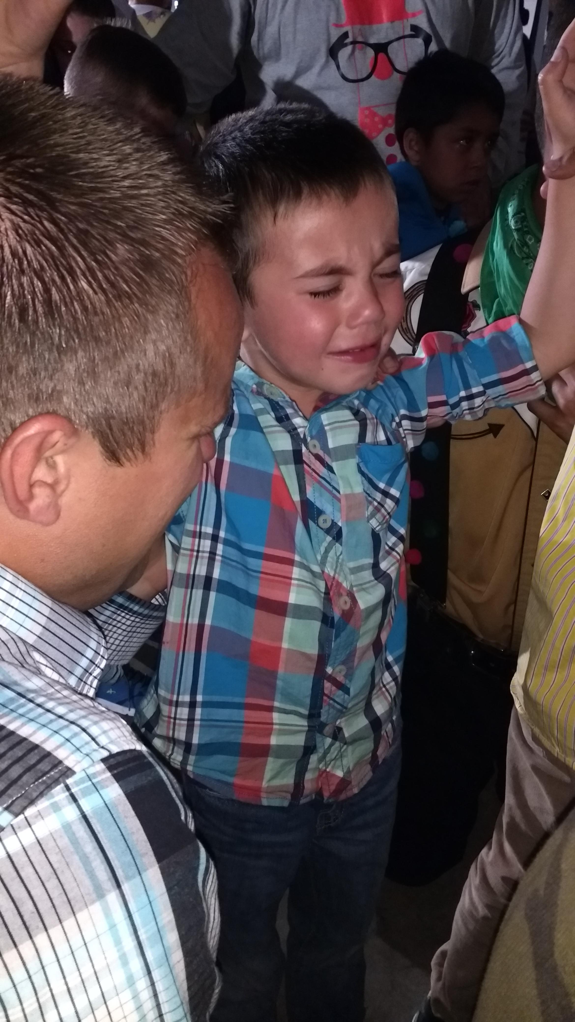 Bro. Matthew praying with Jared