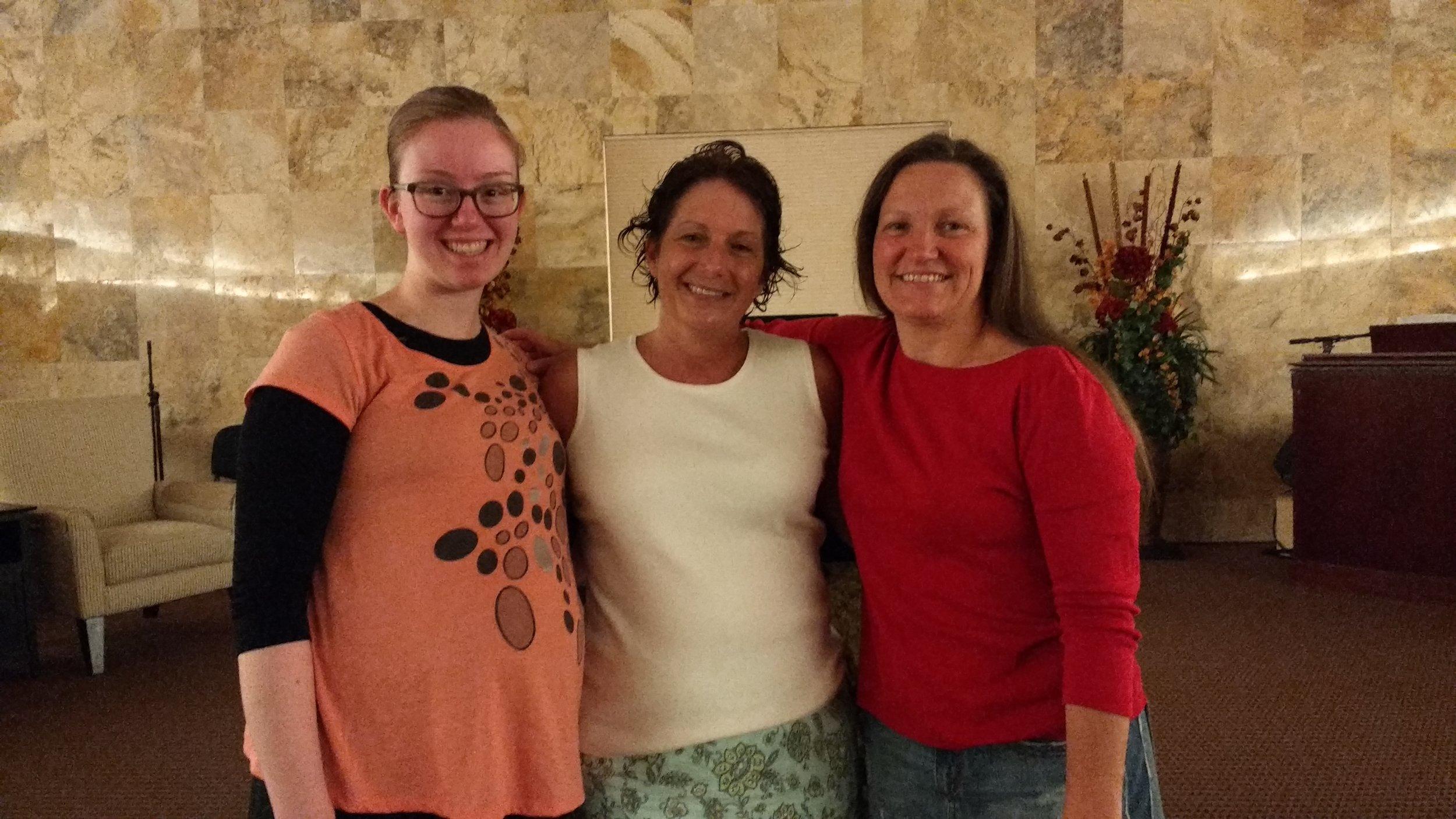 Sis. Sarah, Lori Cox and Sis. Jacquie