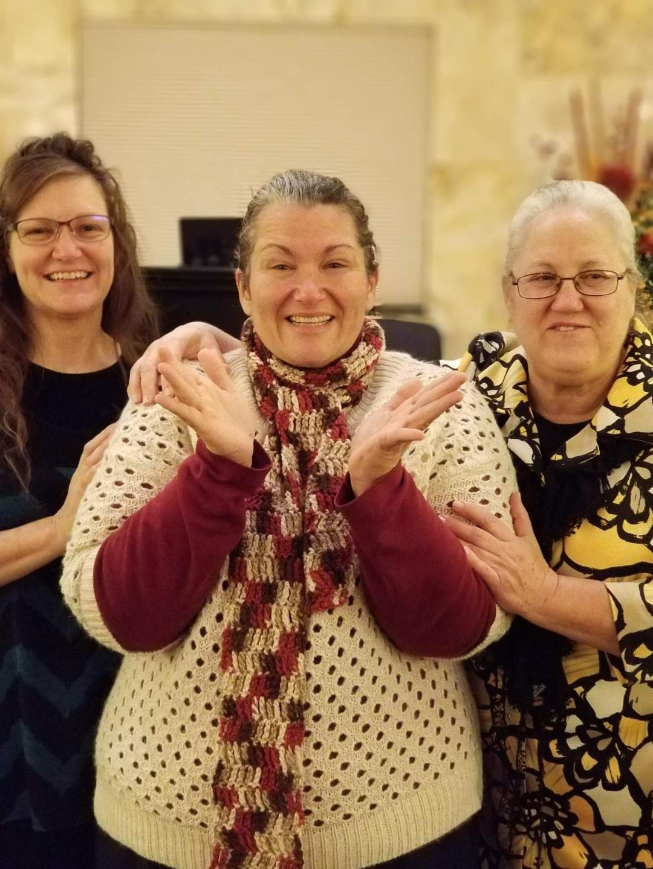 Sis. Jacquie, Sis. Kiana and Sis. Barbara