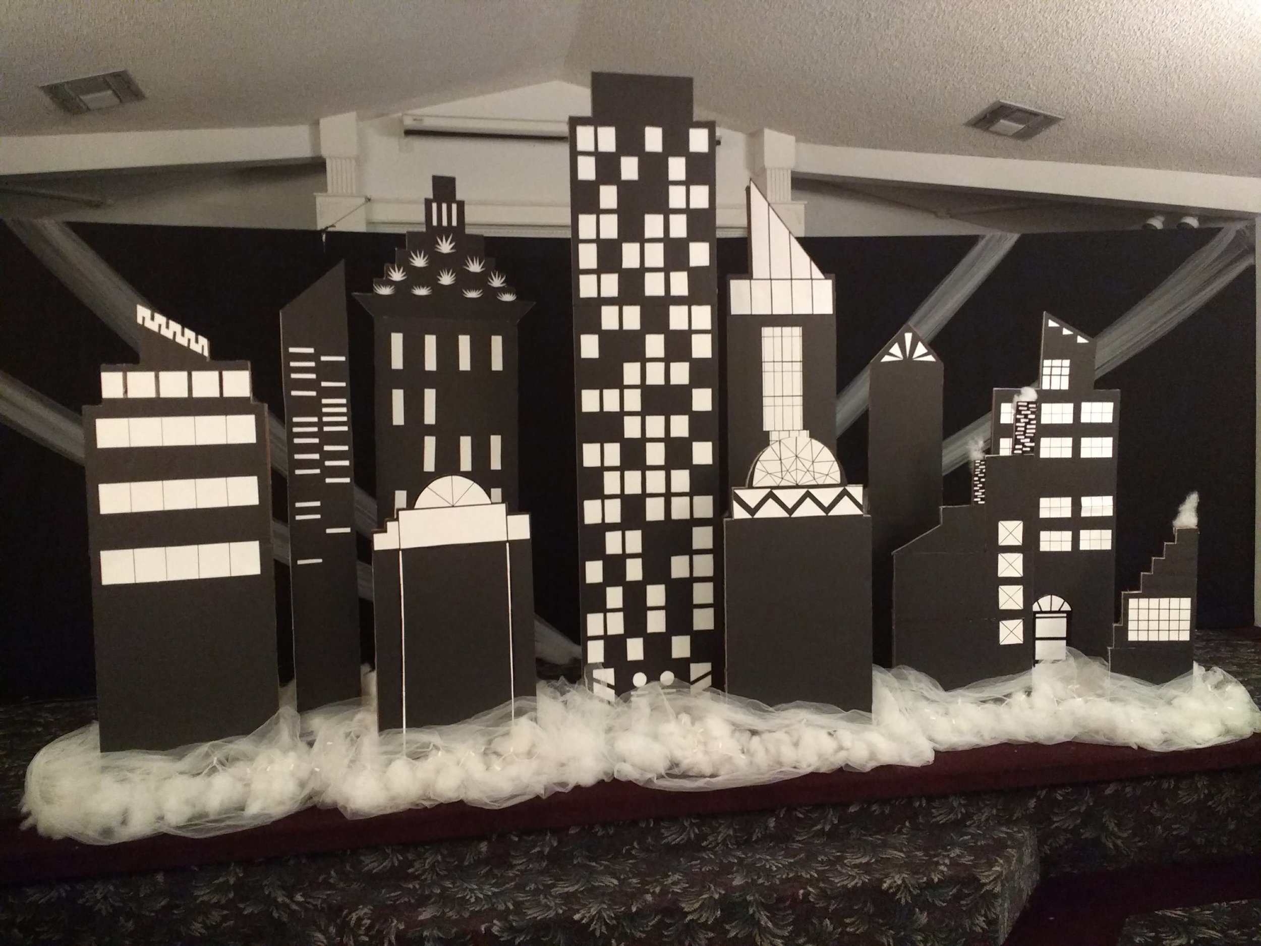The theme for the banquet this year, was New York City