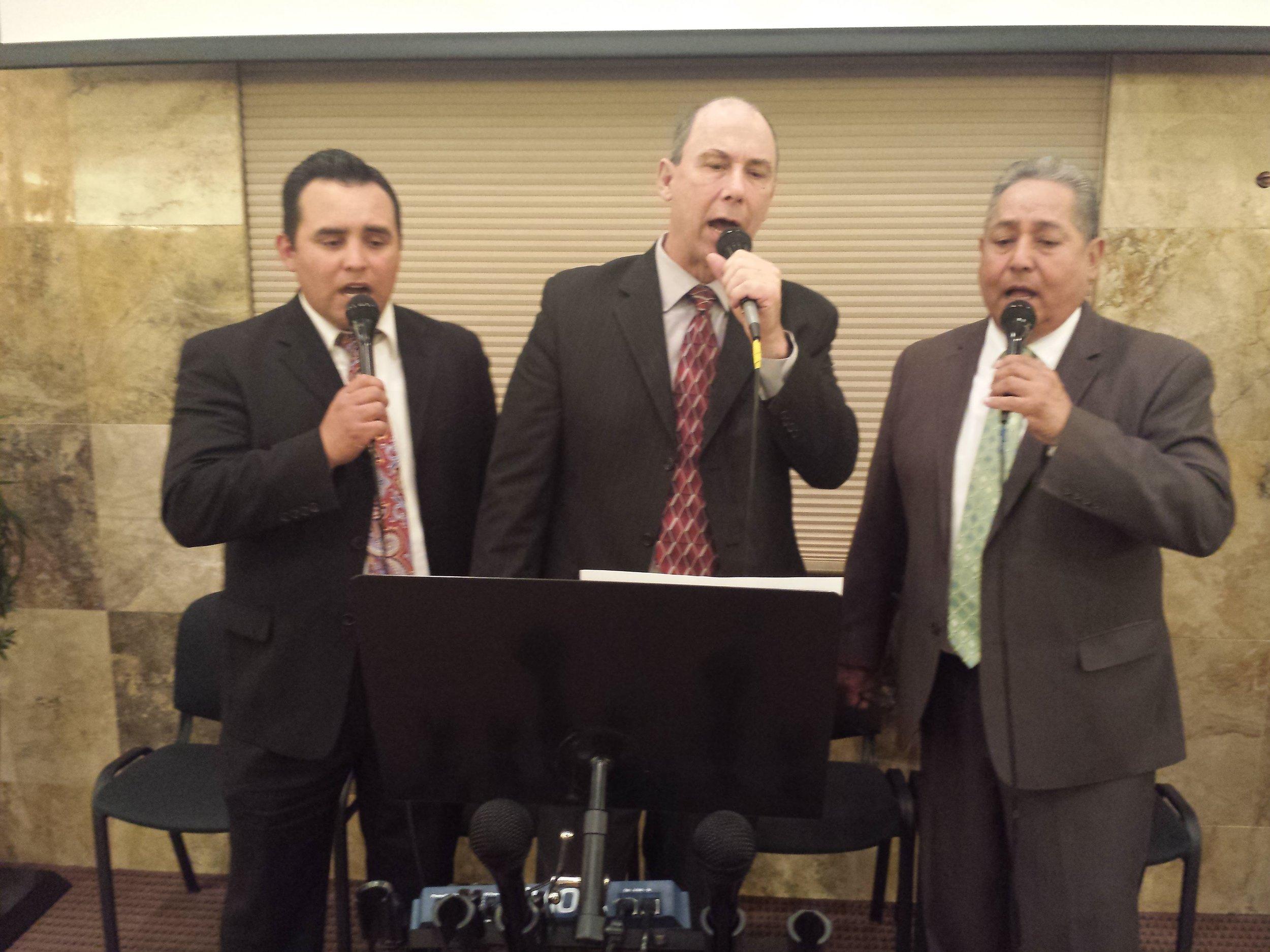 Bro. Raul, Bro. Mick and Bro. Nevarez