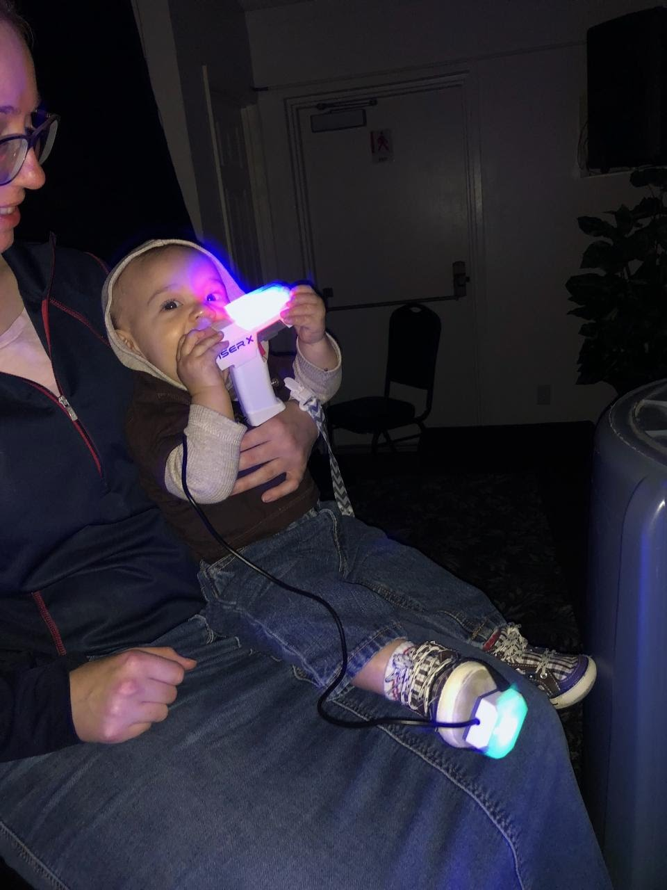 Junior Youth Laser Night included 8 month old Wayne Davis too!!