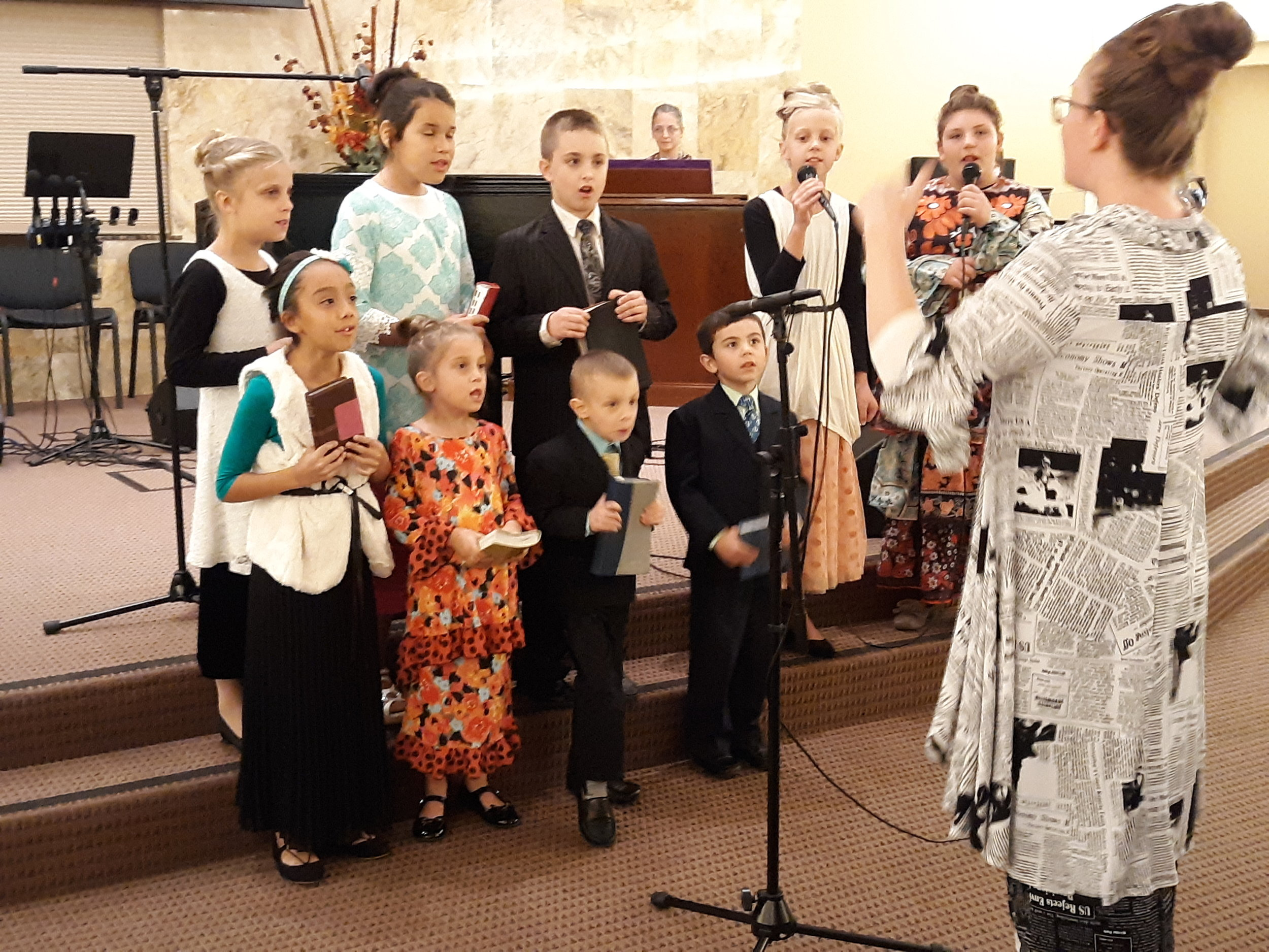 Our New Junior Youth Choir performing for the first time :)