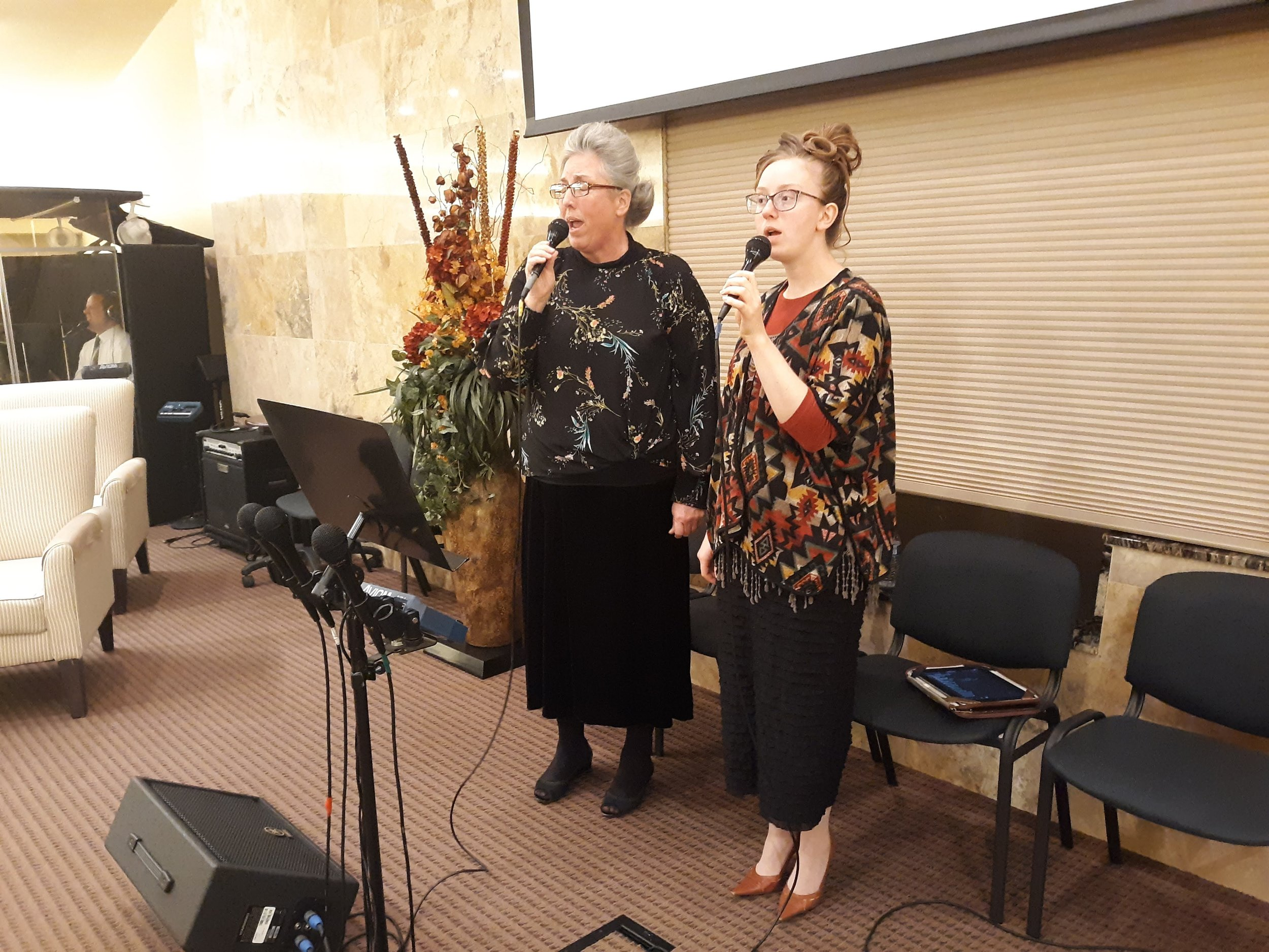 Our singers - Sis. Sandy and Sis. Sarah