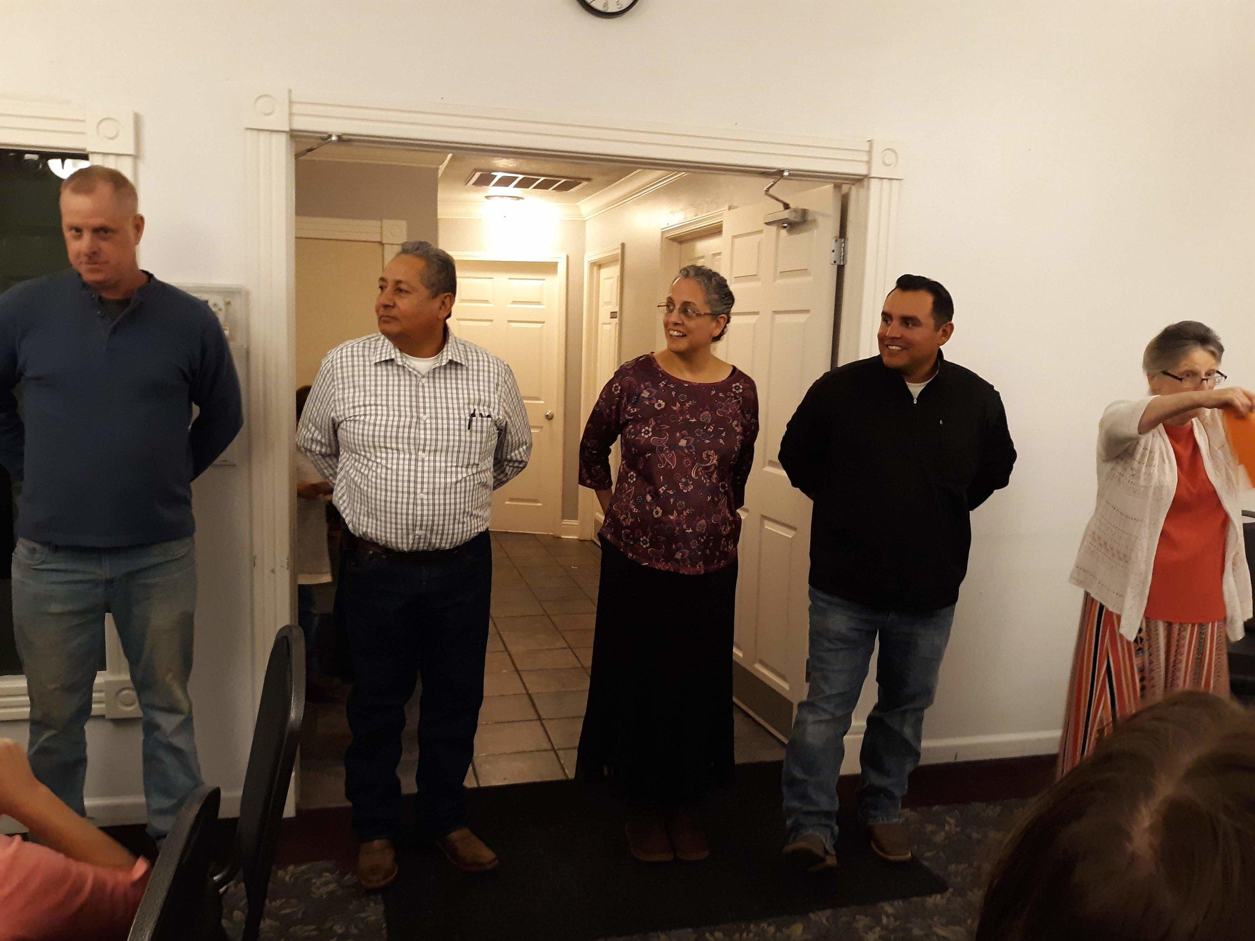 Mike, Bro. Nevarez, Sis. Loretta, Bro. Raul and Sis. Cynthia