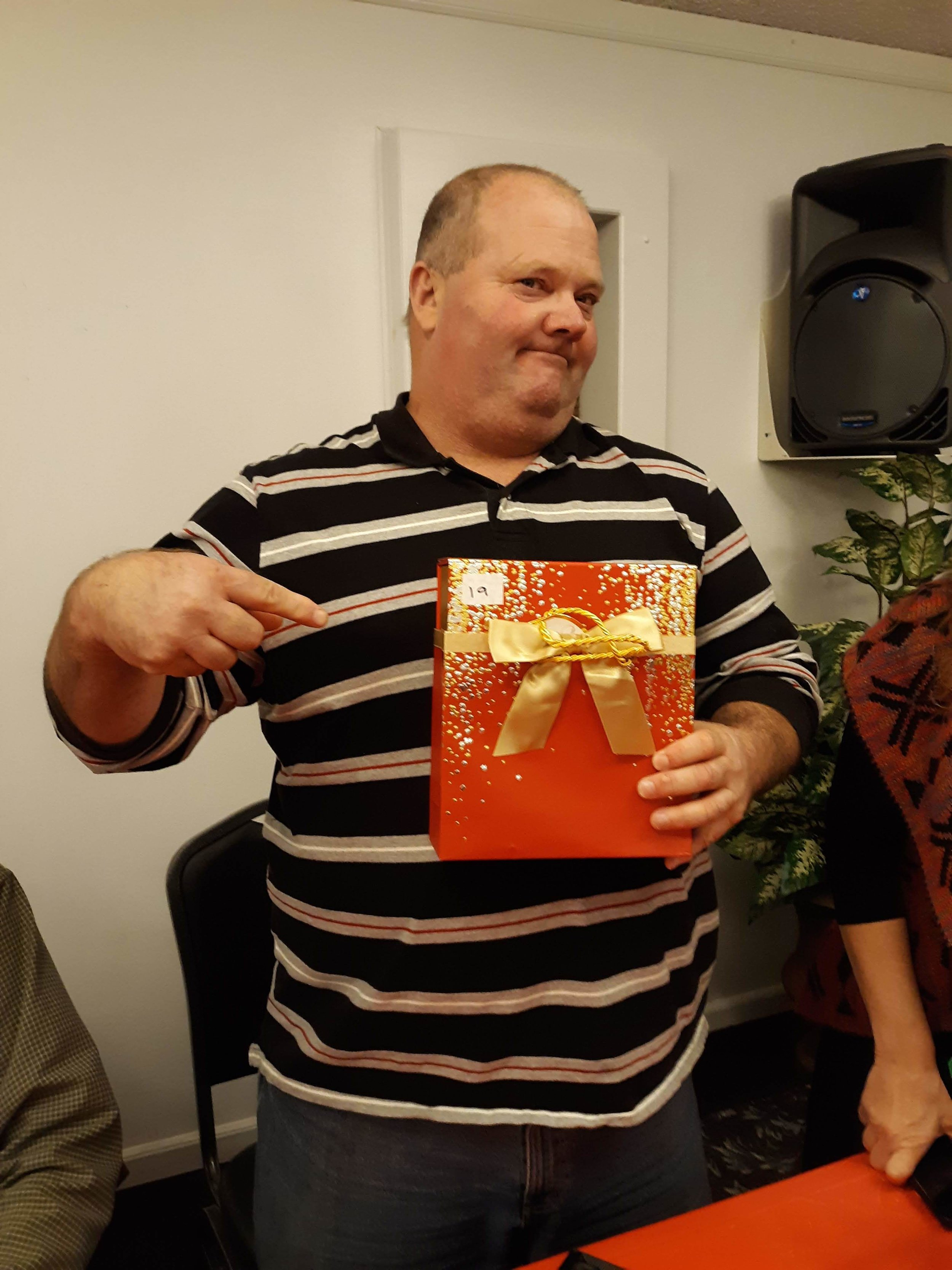 Bro. David received chocolates also. You can tell he is good with that.