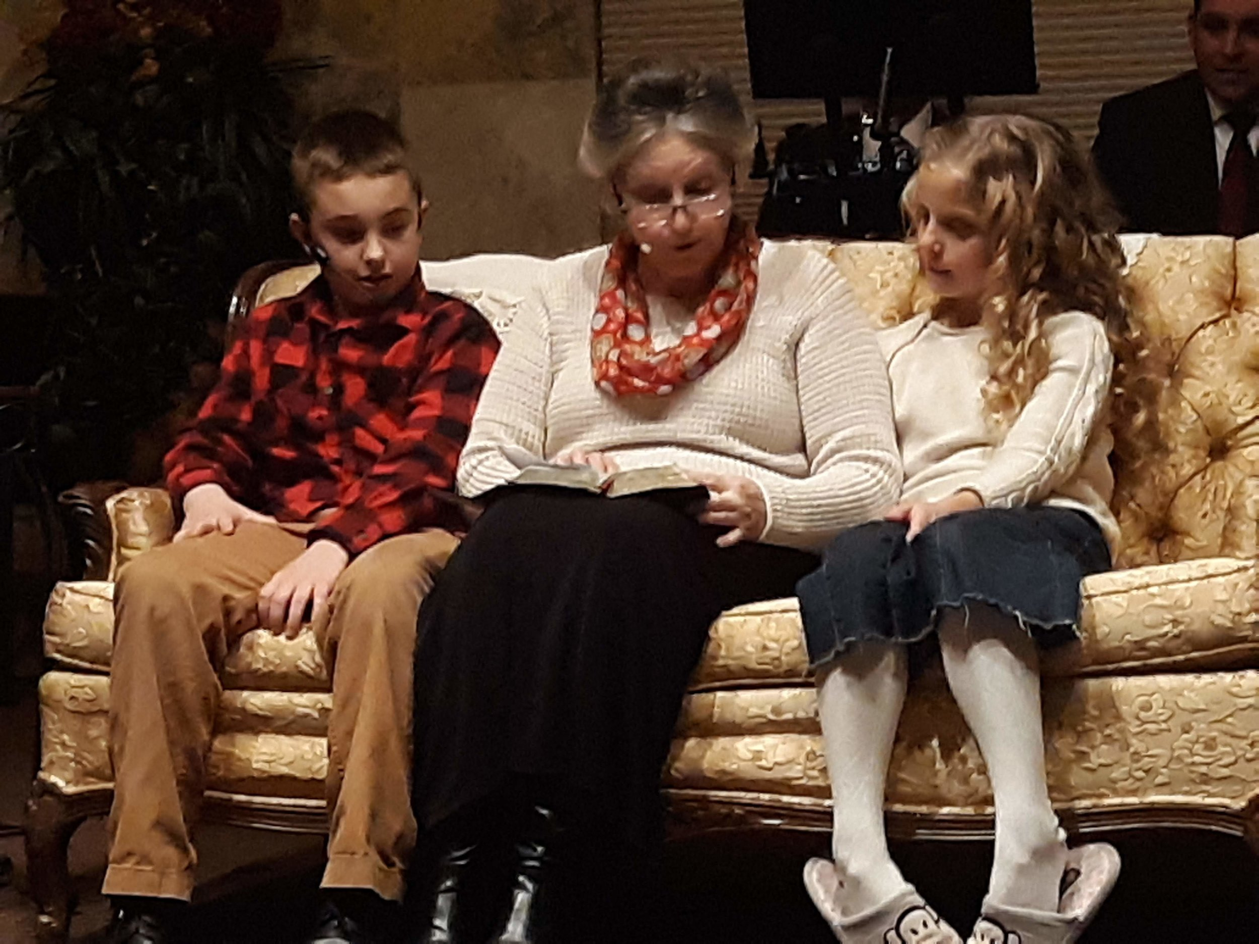 """Grandma"" finishes telling Dallas and Mandy about the true meaning of Christmas."