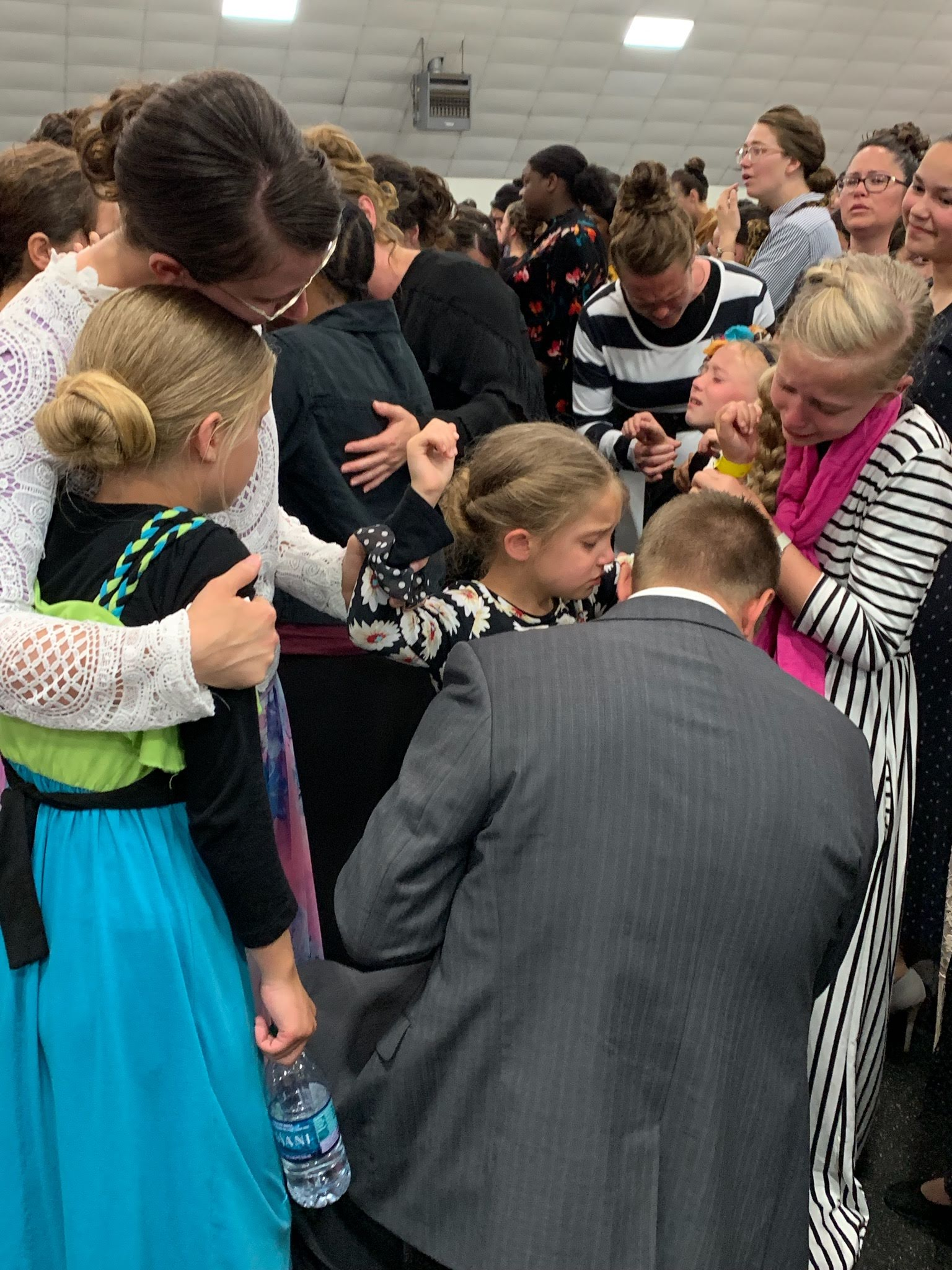 All of the Peterson girls got the Holy Ghost that night. Emily, Mandy and Megan. Thank you Jesus!