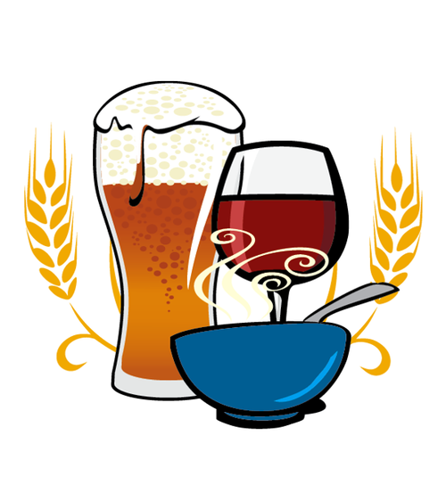 BETHLEHEM HARVEST FESTIVAL MAIN ARTWORK  Vector Image created for the 2013 Bethlehem Harvest Festival. Beer, Wine, and Soup icons used throughout the design materials to guide festival goers to different locations on passports.