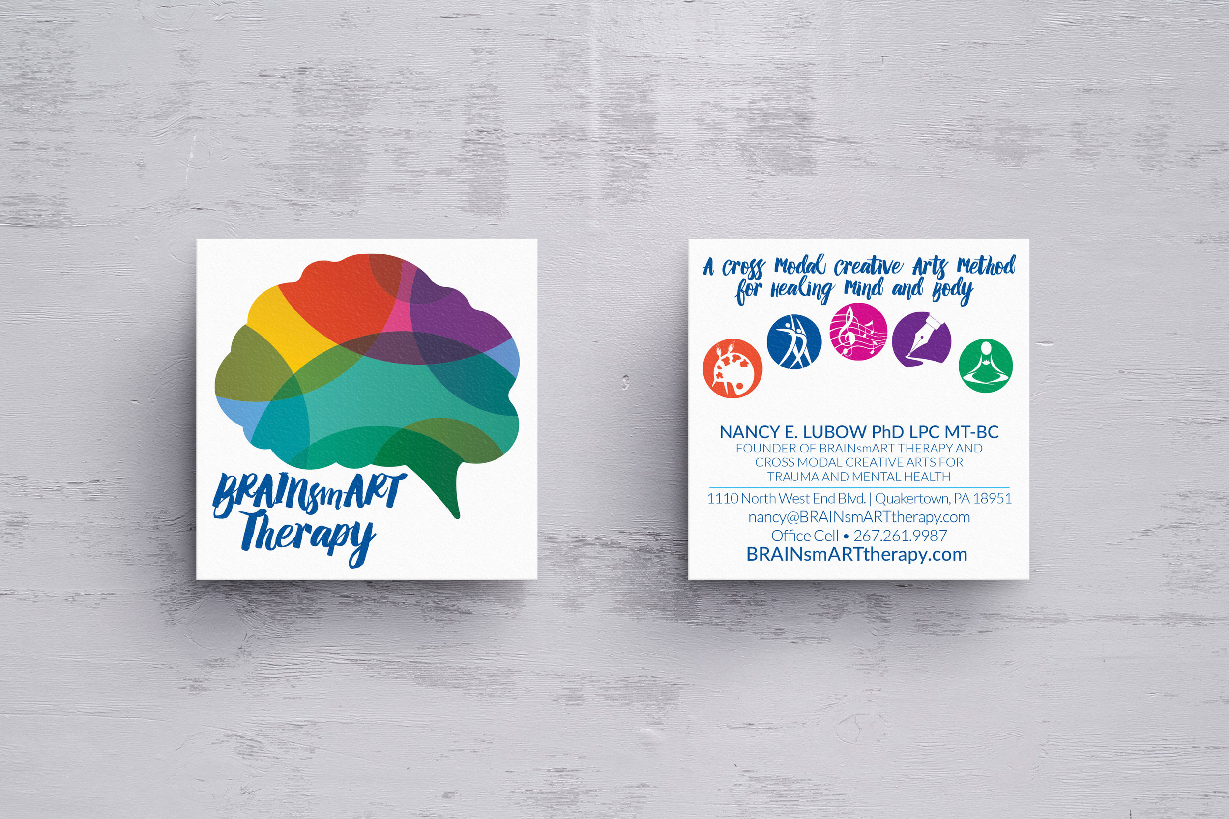 BRAINSMART THERAPY • SQUARE BUSINESS CARDS