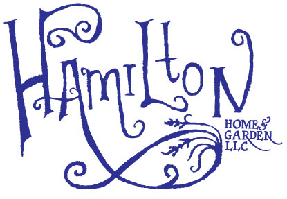 HAMILTON HOME & GARDEN, LLC • LOGO  CLIENT: HAMILTON HOME & GARDEN, LLC WORK: Hand-drawn display font, Adobe Illustrator