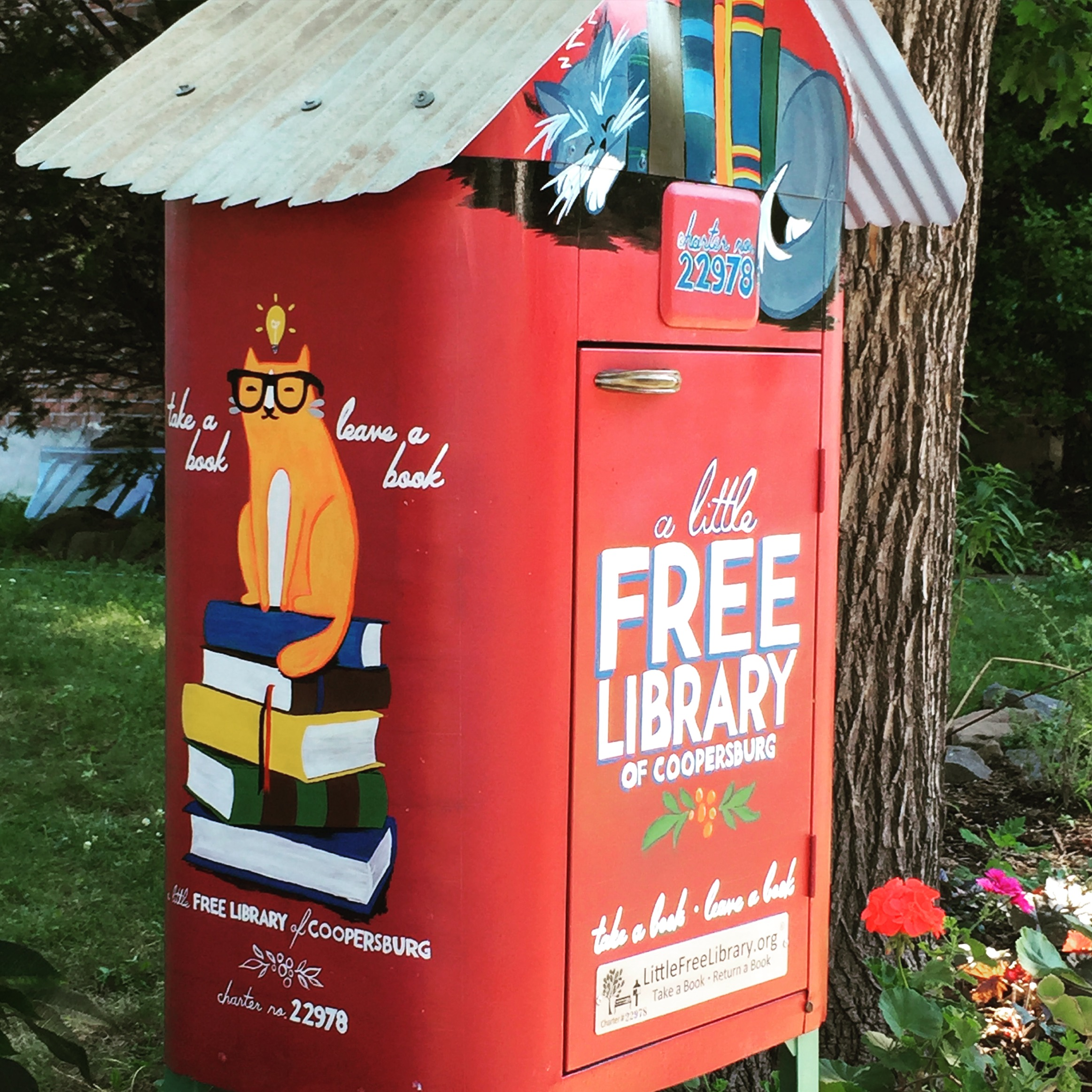 LITTLE FREE LIBRARY OF COOPERSBURG  All waterproofed and ready to go.