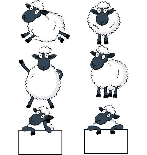 Peevish's Sheep  - Vector Images from  VectorStock.com