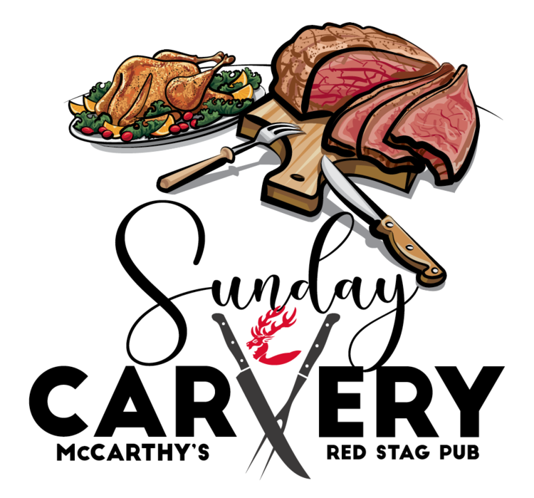 McCARTHY'S SUNDAY CARVERY • LOGO  CLIENT: McCARTHY'S RED STAG PUB AND WHISKEY BAR BRIEF: Advertise the weekly Sunday carvery happening at the pub. WORK: Adobe Illustrator.
