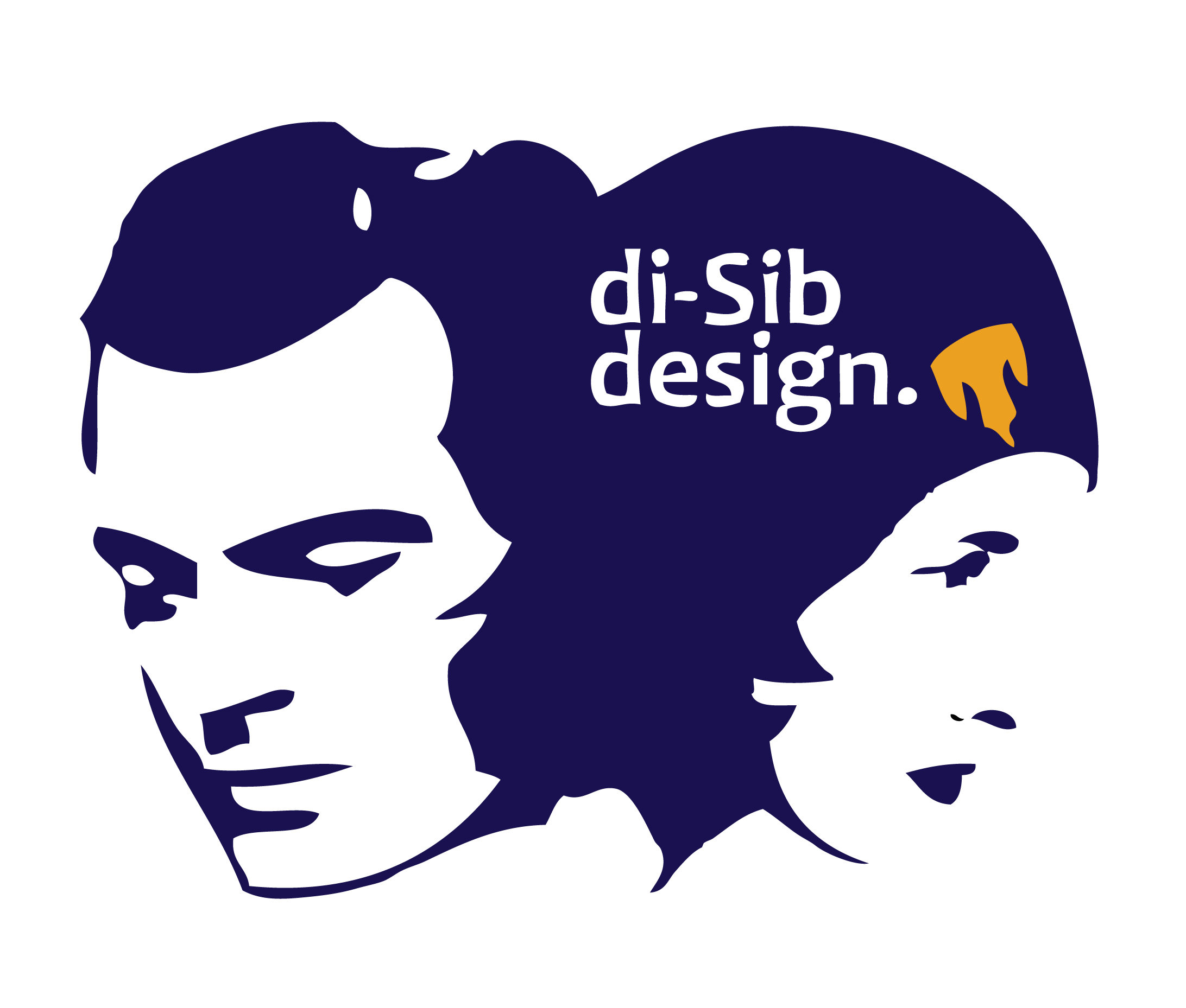 DI-SIB DESIGN • LOGO  CLIENT: DI-SIB DESIGN CO. (TWO-SIBLING DESIGN) BRIEF: Put our heads together. WORK: Adobe Illustrator