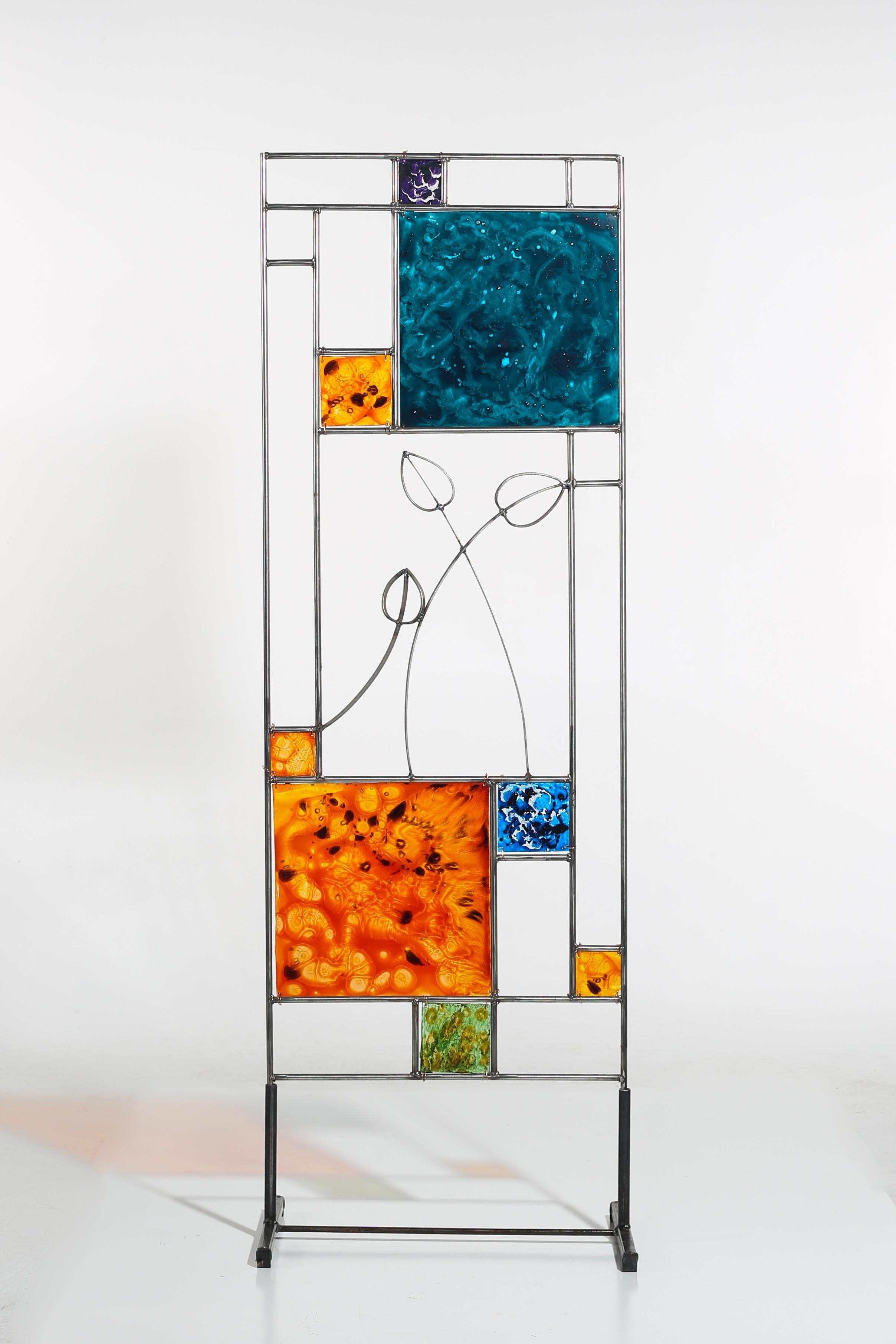 Steel & glass screen $445