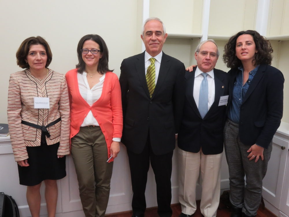 Ponentes de la sesión: Susana Martínez, Teresa Nieves- Chinchilla, Aurelio Miras, Vicente Notario y Ana Elorza