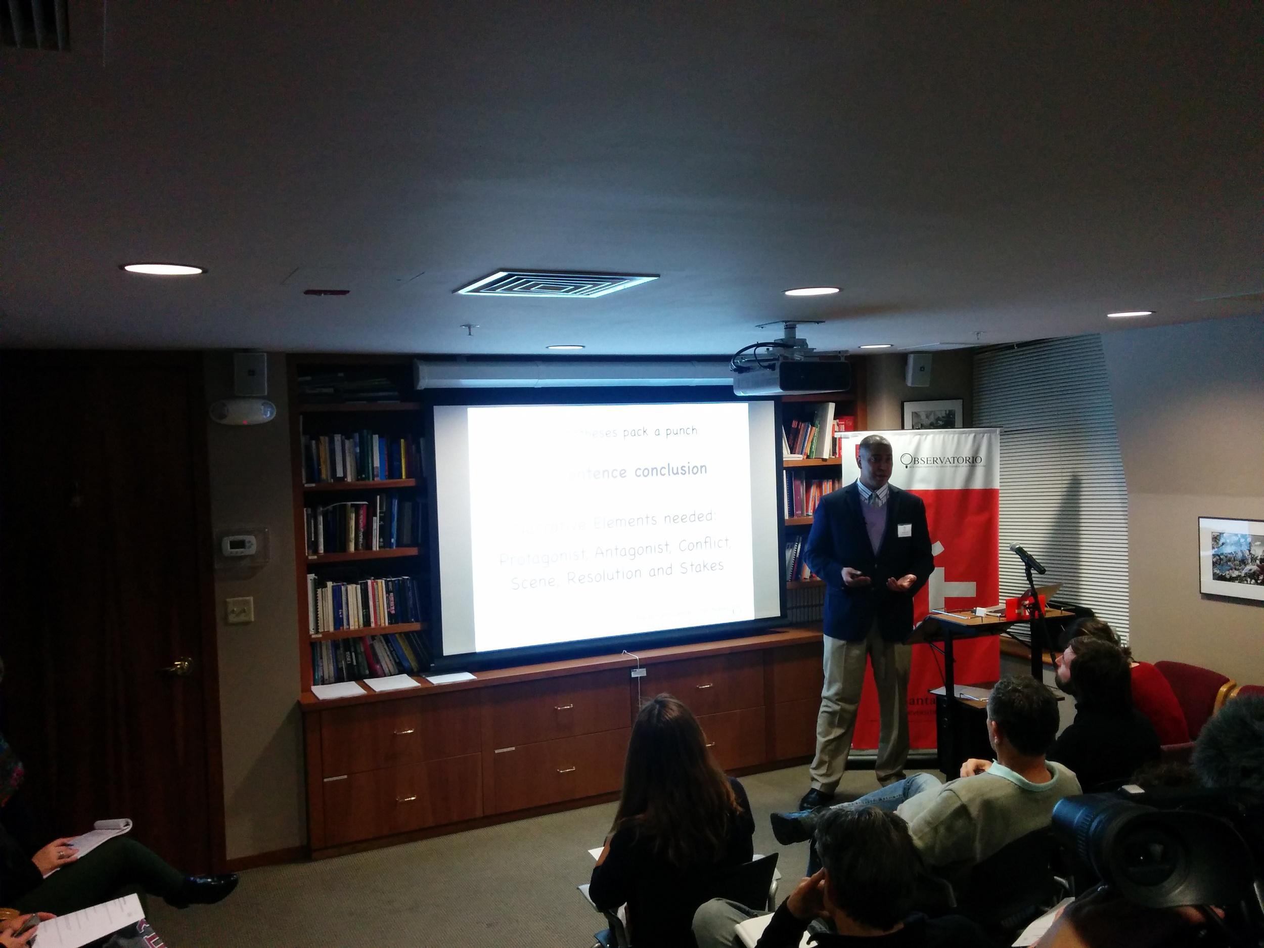 Dr. Rafael Luna. ¨The Art of Scientific Storytelling¨. Instituto Cervantes at Harvard University. 18 febrero 2015. Cambridge, MA.