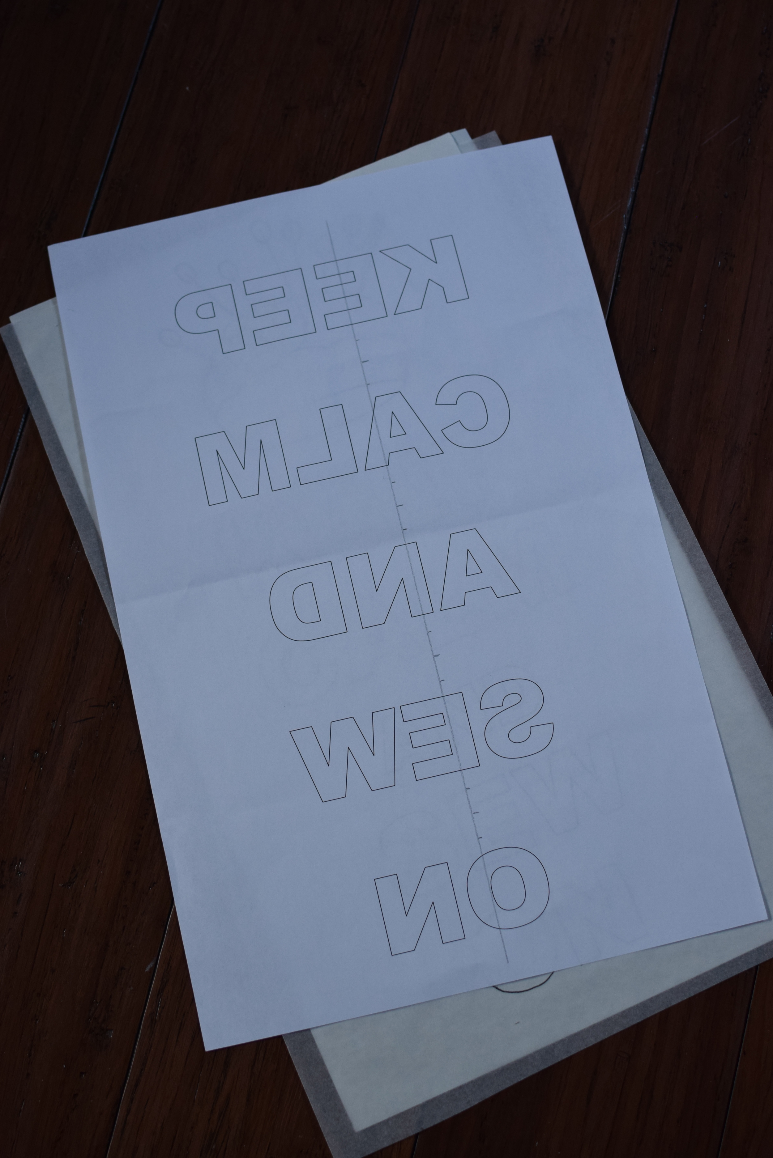 Mirror-imaged letters can be printed directly from Word.