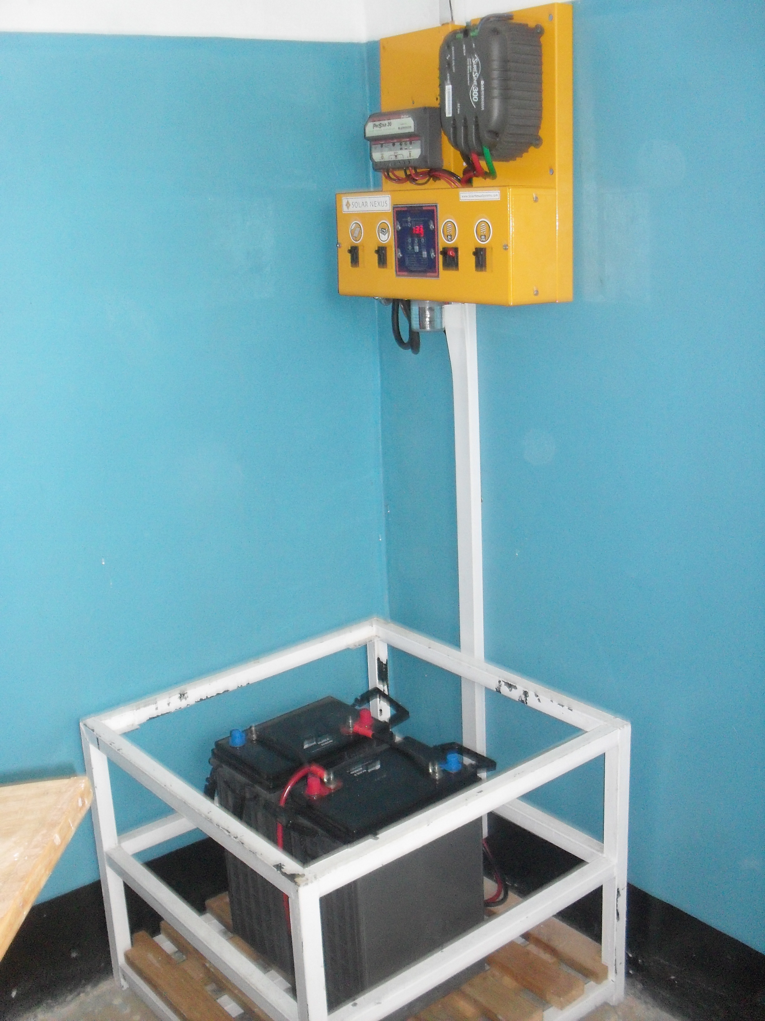 SolarNexus power center installed in a school in Tanzania.