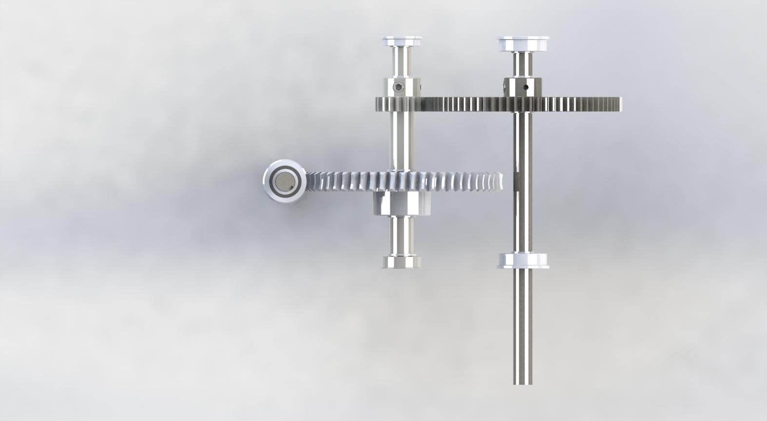 Top View of Drivetrain Components