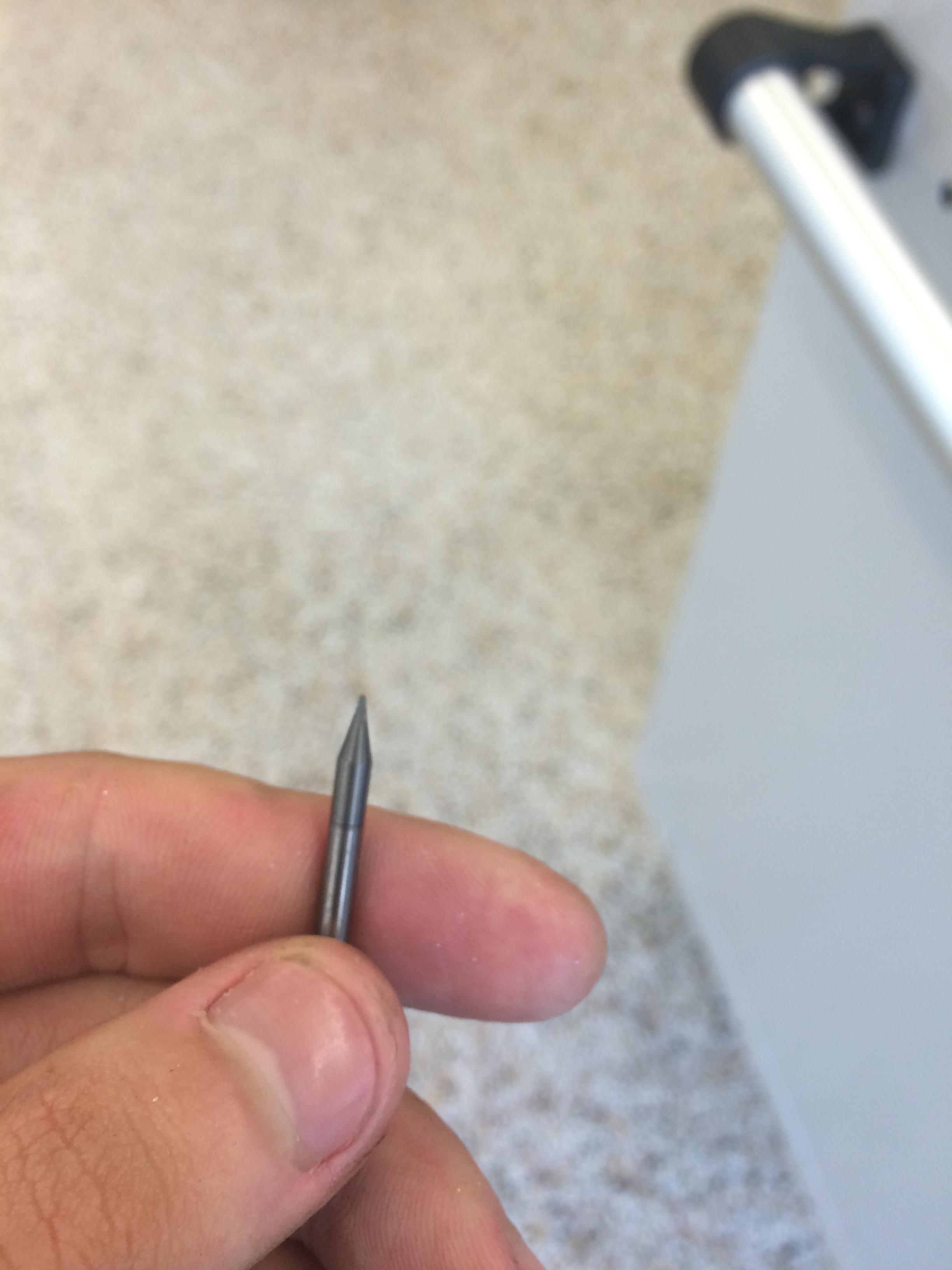 The broken tool.