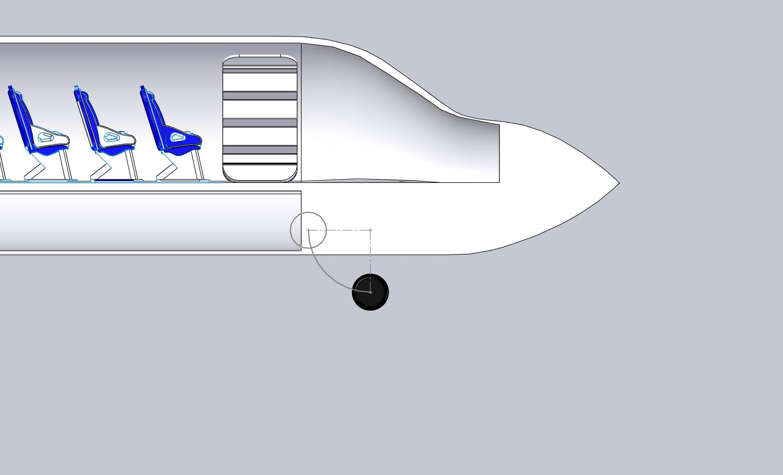 Nose gear retraction